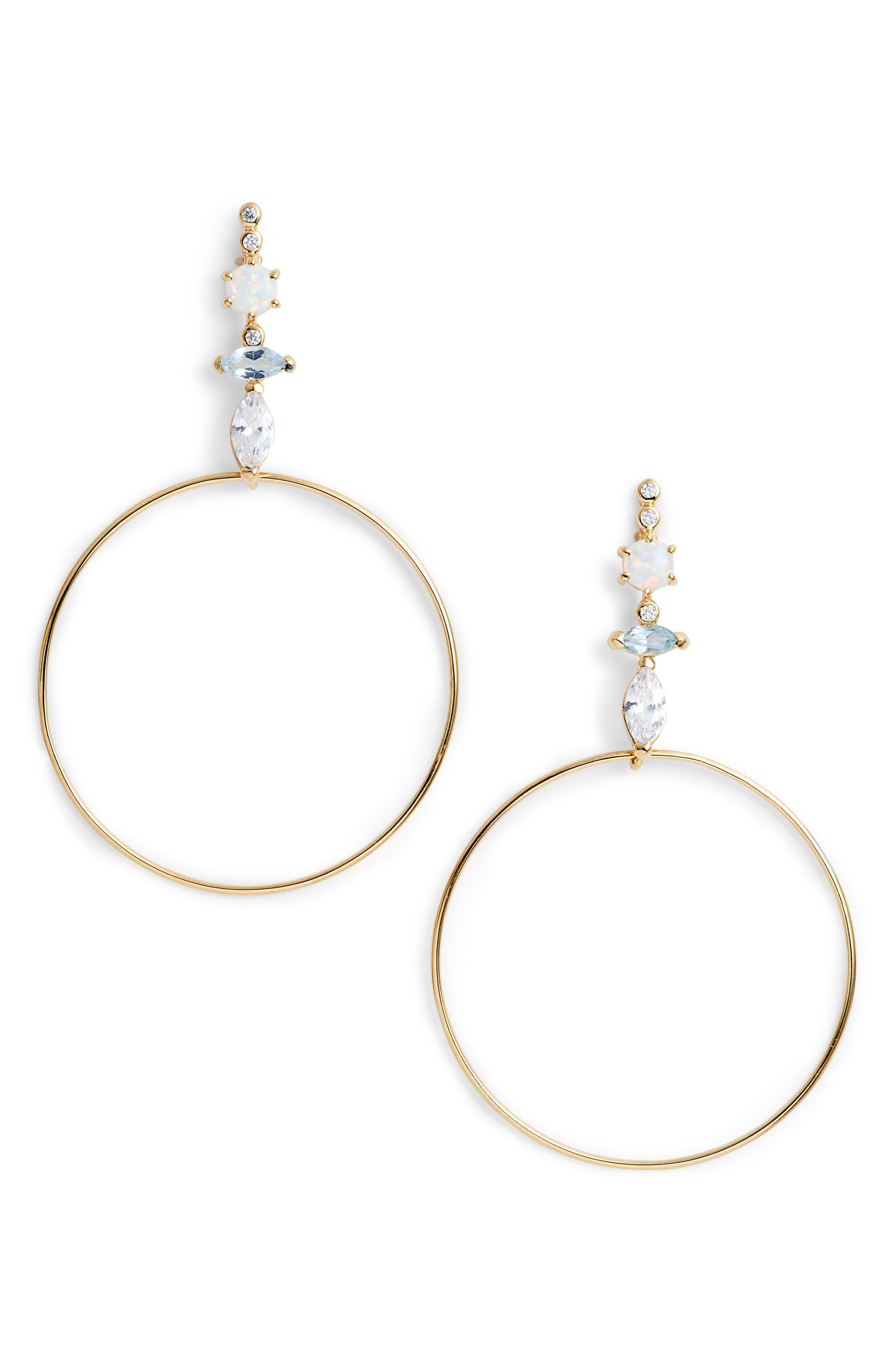 Sydney Multi-Stone Drop Earrings,                         Main,                         color, Gold
