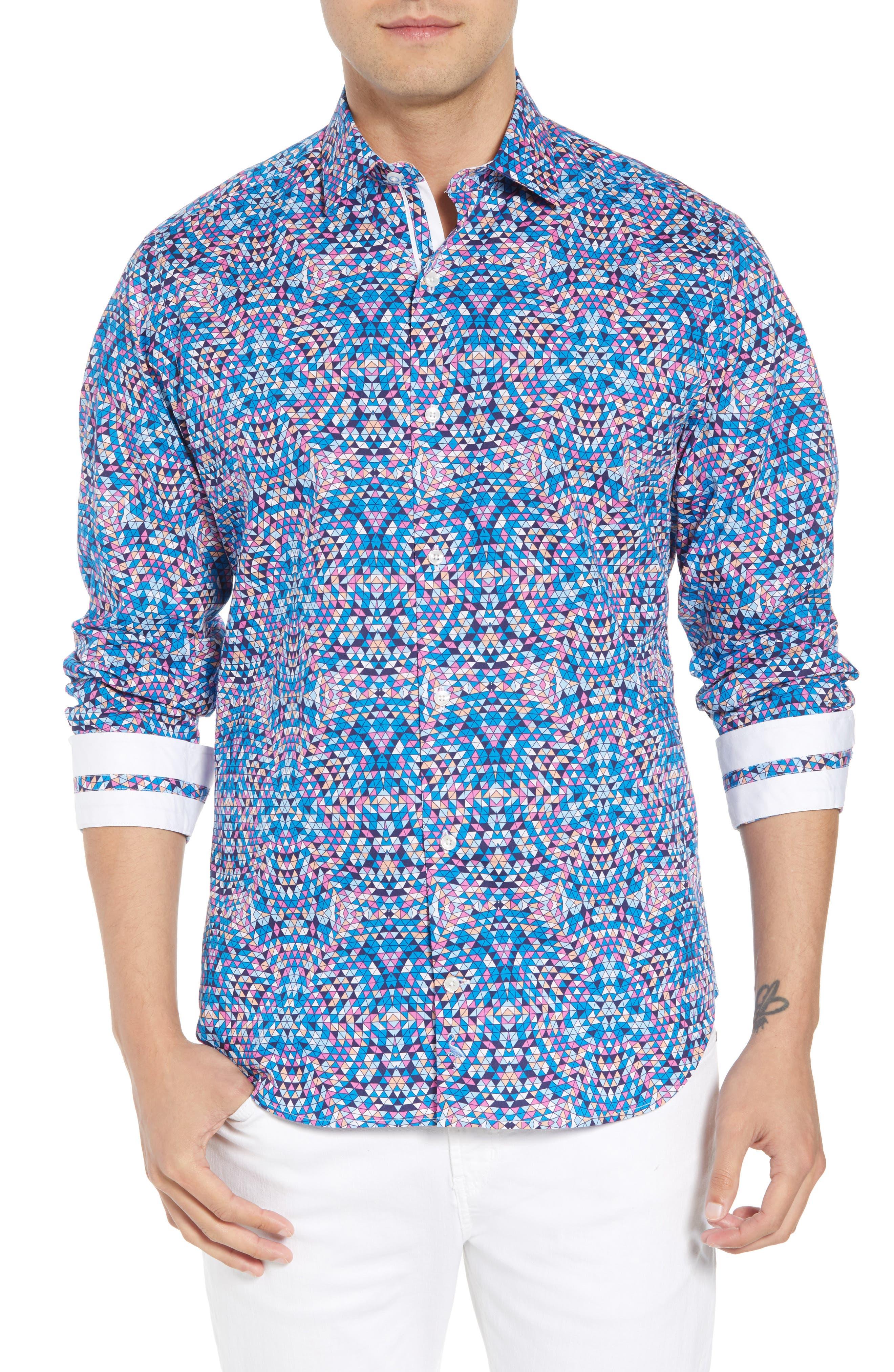 Alden Regular Fit Sport Shirt,                         Main,                         color, Teal