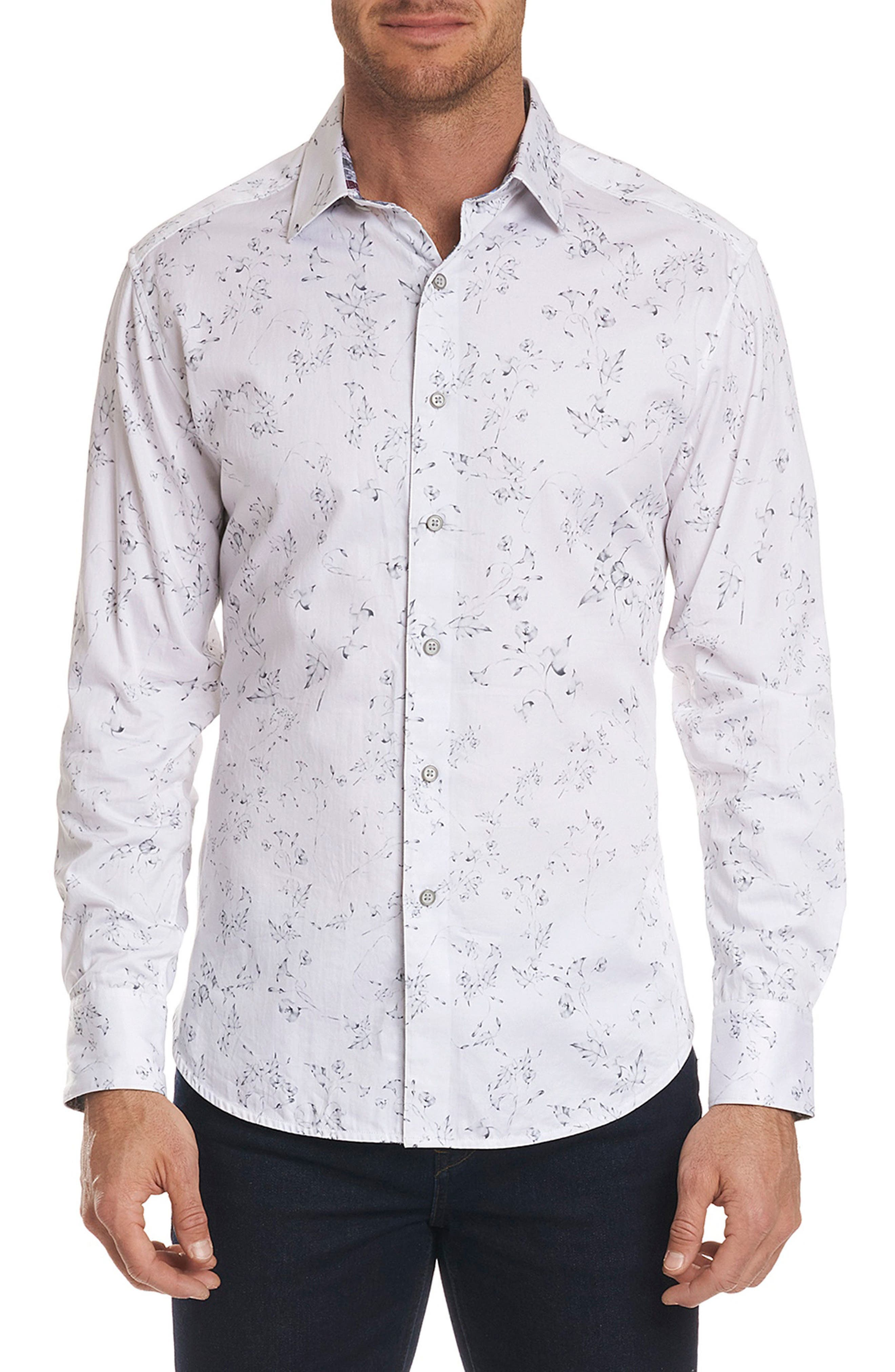 De La Cruz Classic Fit Sport Shirt,                             Main thumbnail 1, color,                             White