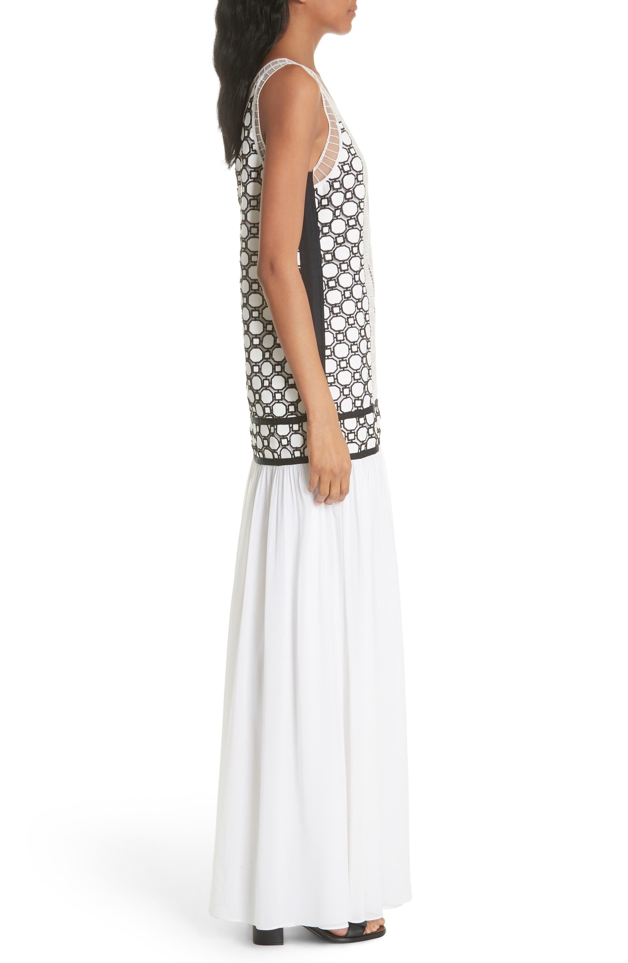 Helena Dress,                             Alternate thumbnail 3, color,                             White