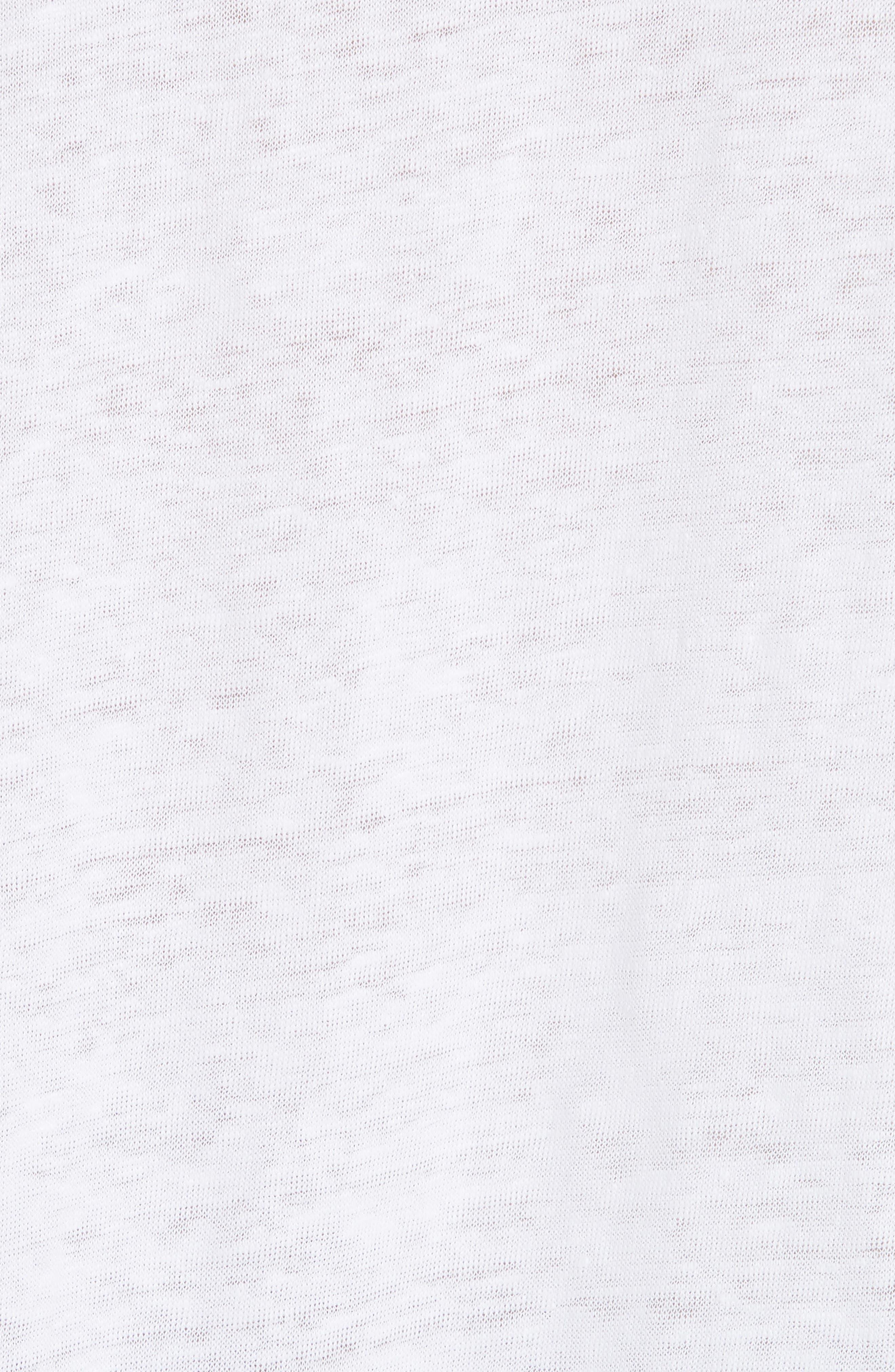Shrunken Linen Long Sleeve Top,                             Alternate thumbnail 5, color,                             Optic White