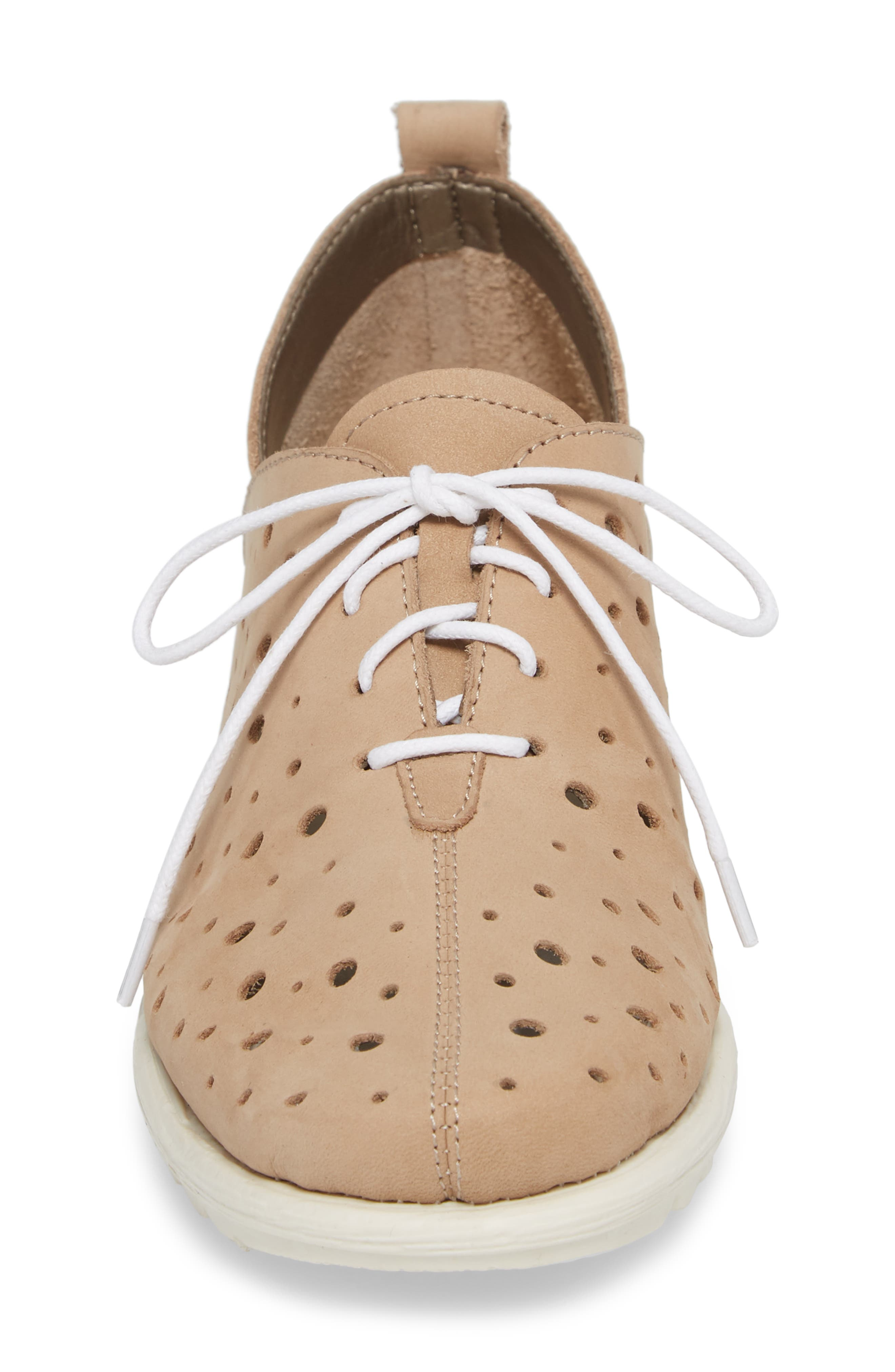 Run Crazy Too Perforated Wedge Sneaker,                             Alternate thumbnail 4, color,                             Dune Nubuck