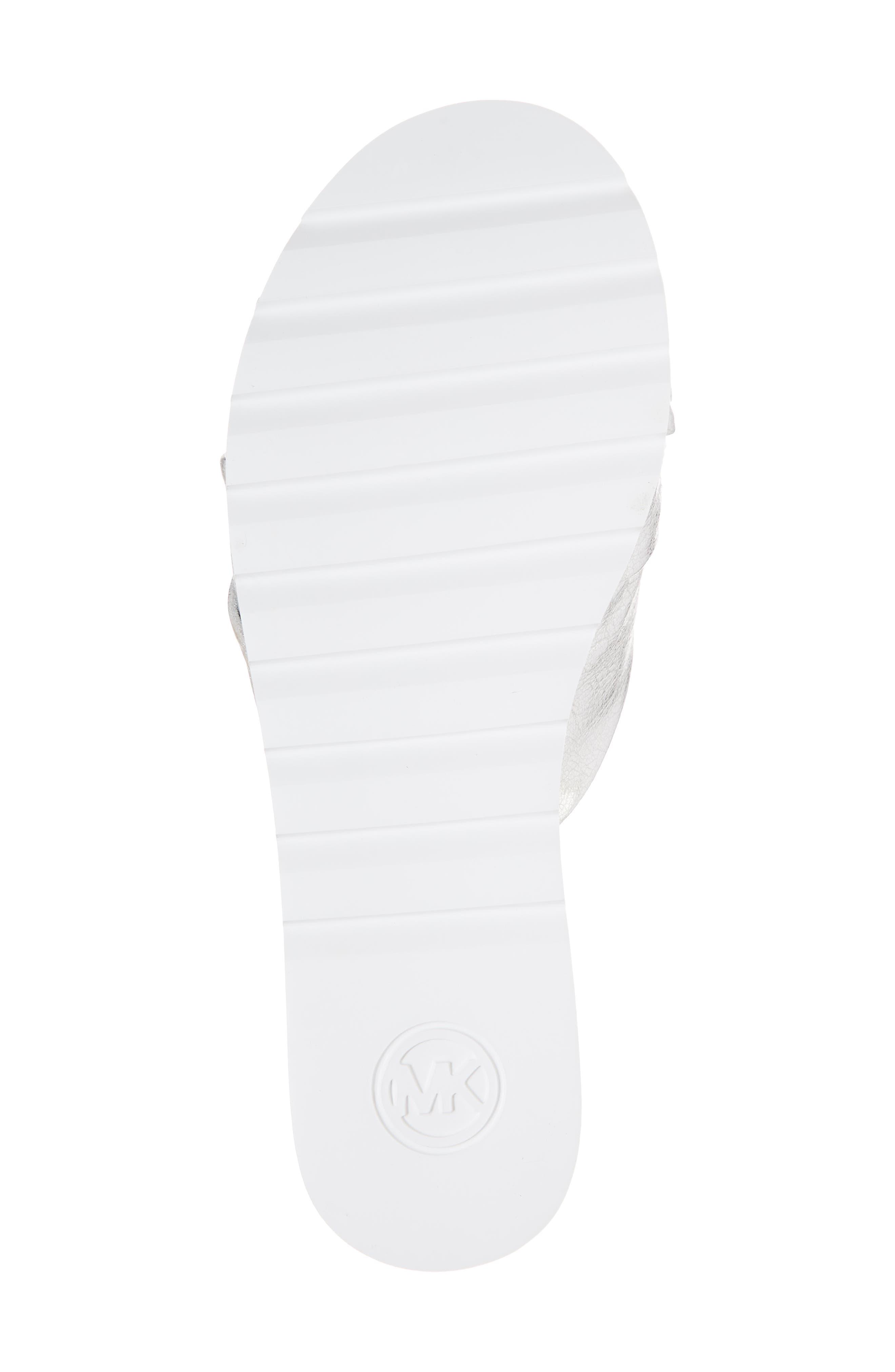 Pippa Platform Slide Sandal,                             Alternate thumbnail 6, color,                             Silver