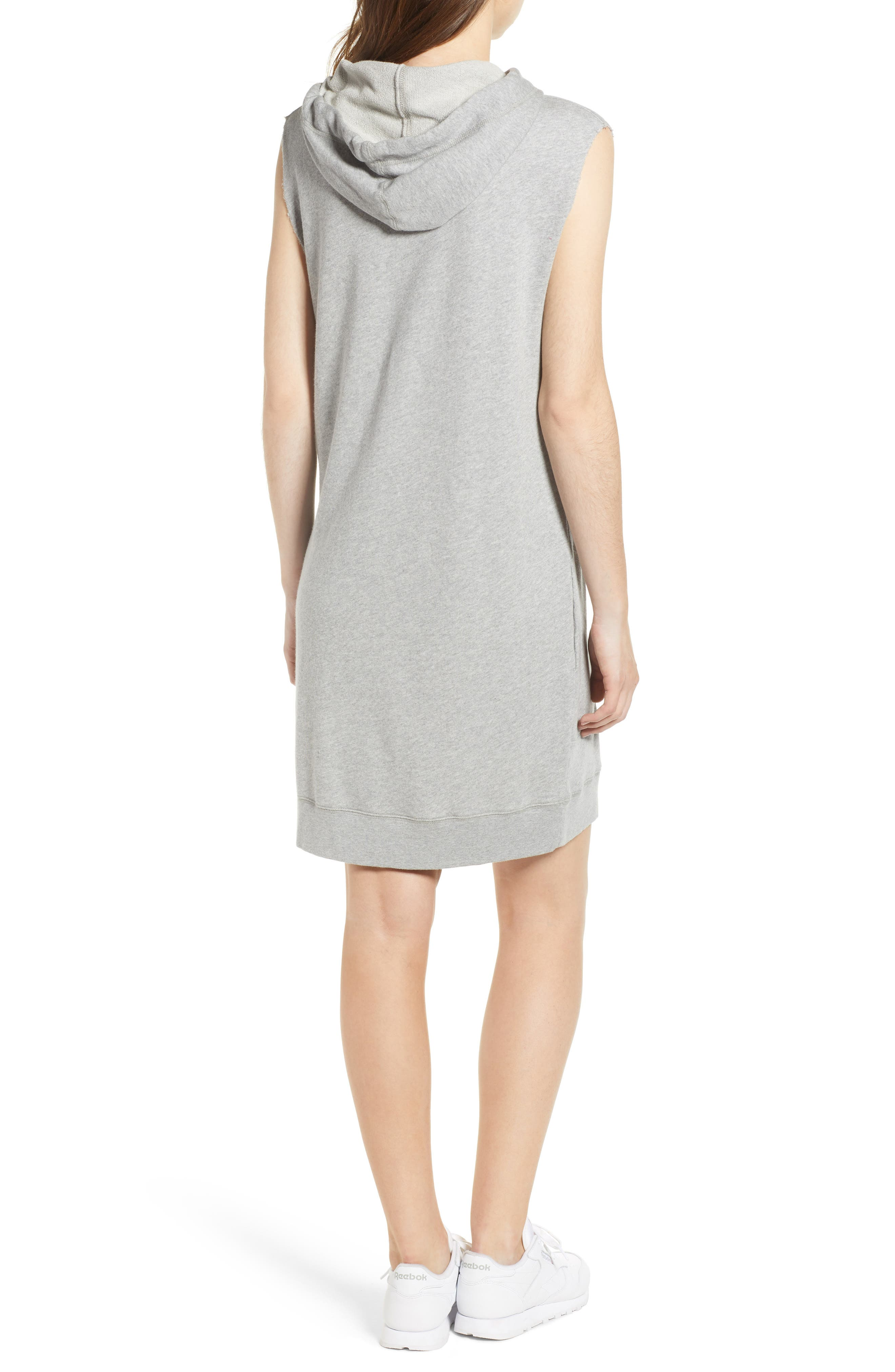 Sia Bis Hooded Dress,                             Alternate thumbnail 2, color,                             Melange Grey