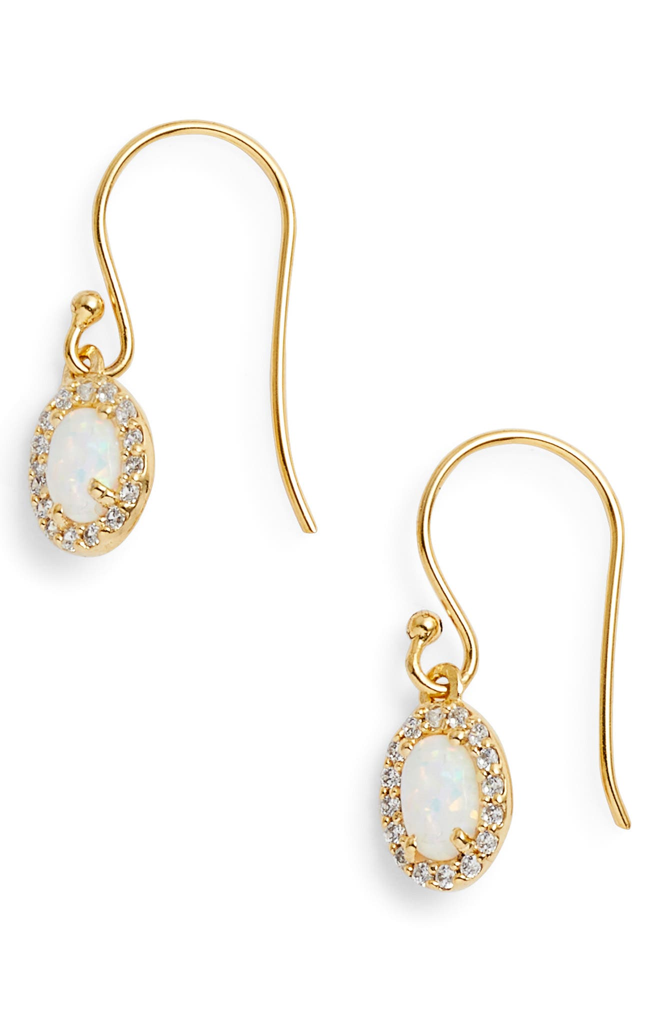 Sydney Oval Drop Earrings,                             Main thumbnail 1, color,                             Gold