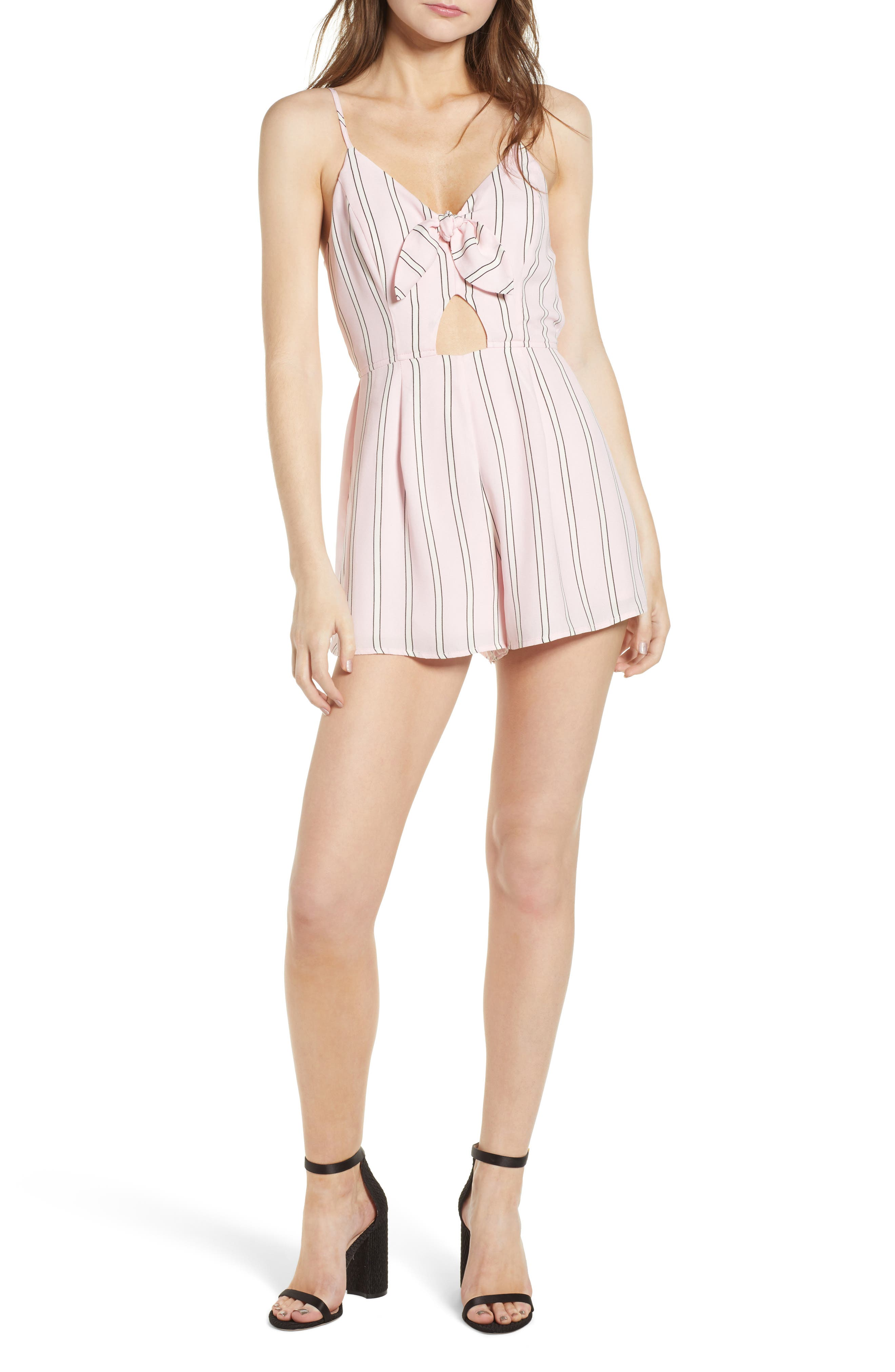 Row A Tie Front Cutout Romper
