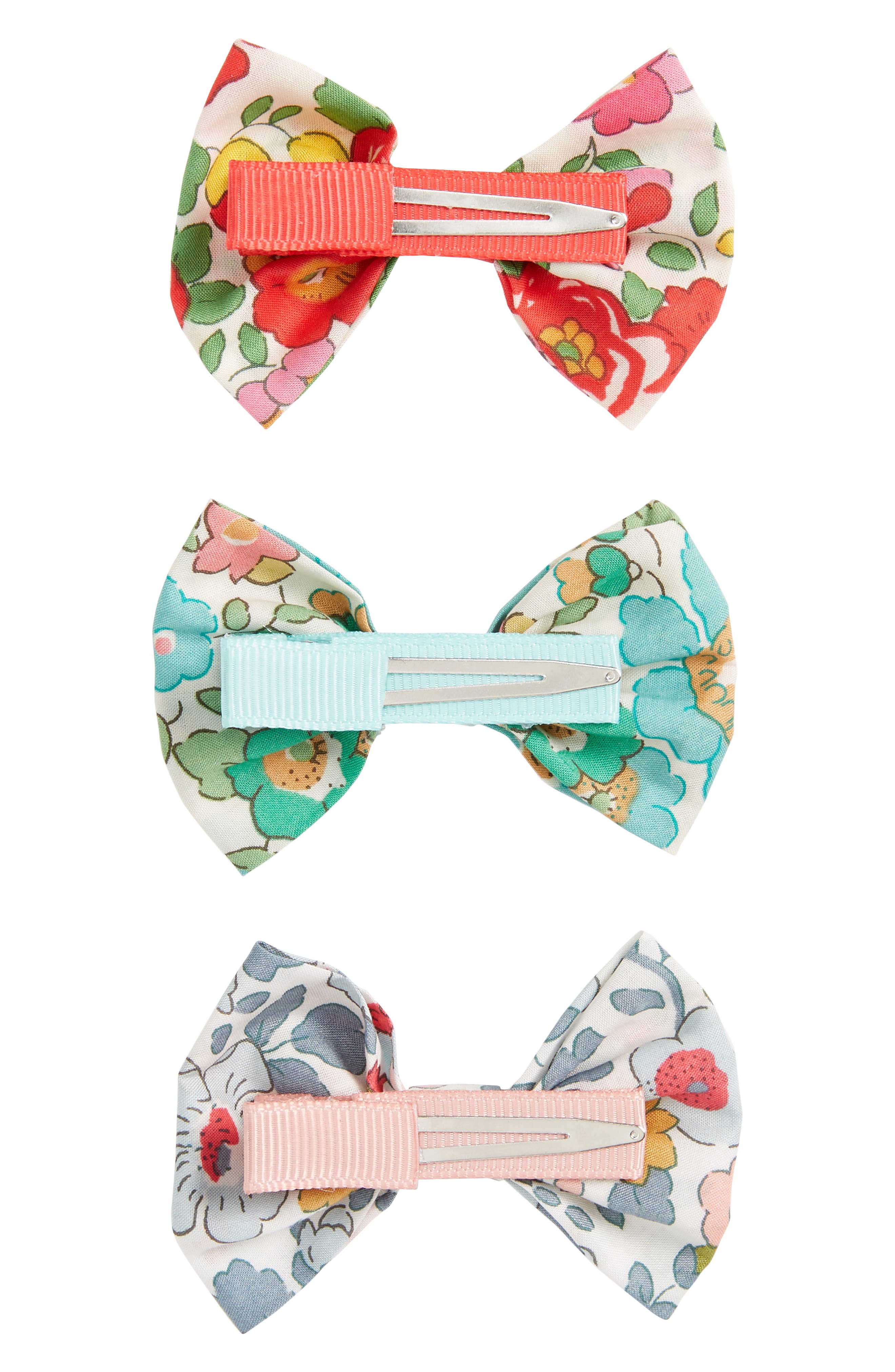 Betsy 3-Piece Bows Hair Clip Set,                             Alternate thumbnail 2, color,                             Assorted