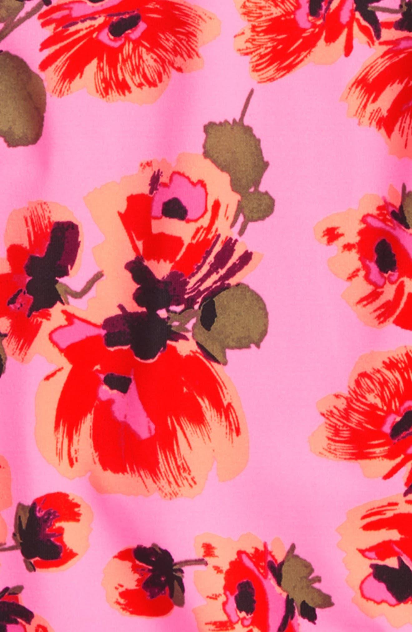 Bella Beach One-Piece Rashguard Swimsuit,                             Alternate thumbnail 2, color,                             Tahiti Pink