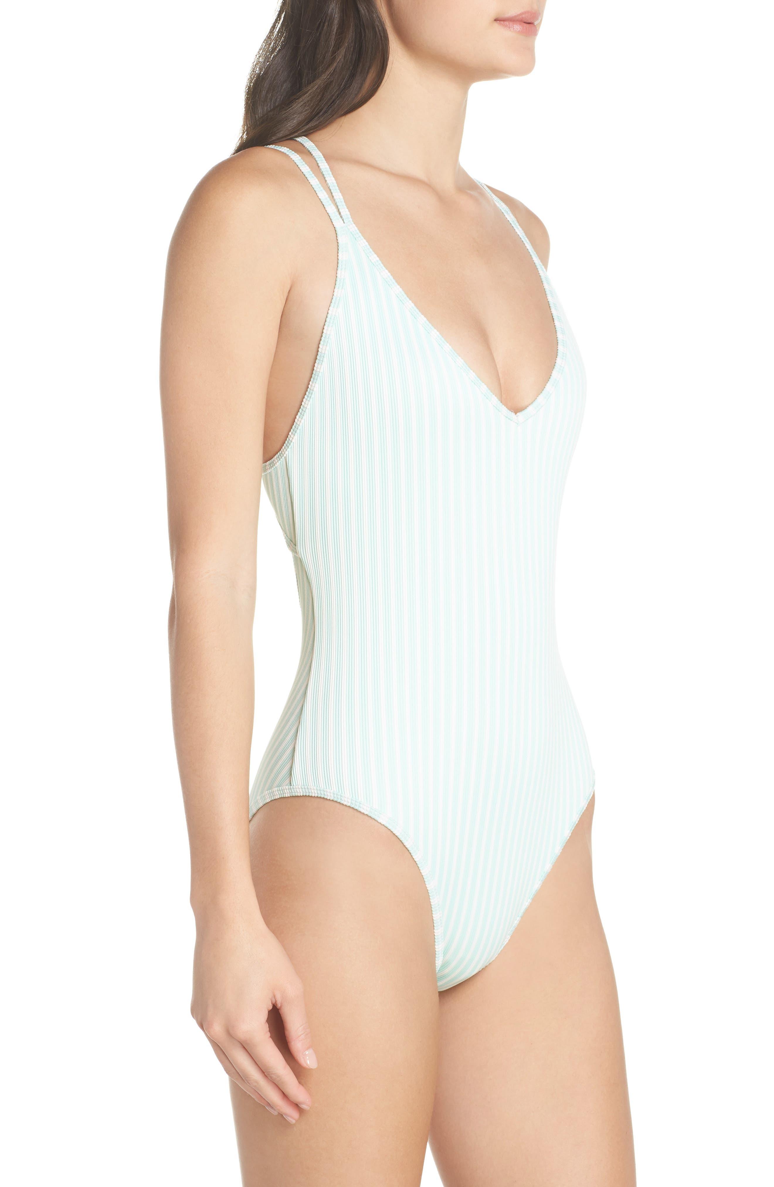 Dakota One-Piece Swimsuit,                             Alternate thumbnail 3, color,                             Spearmint