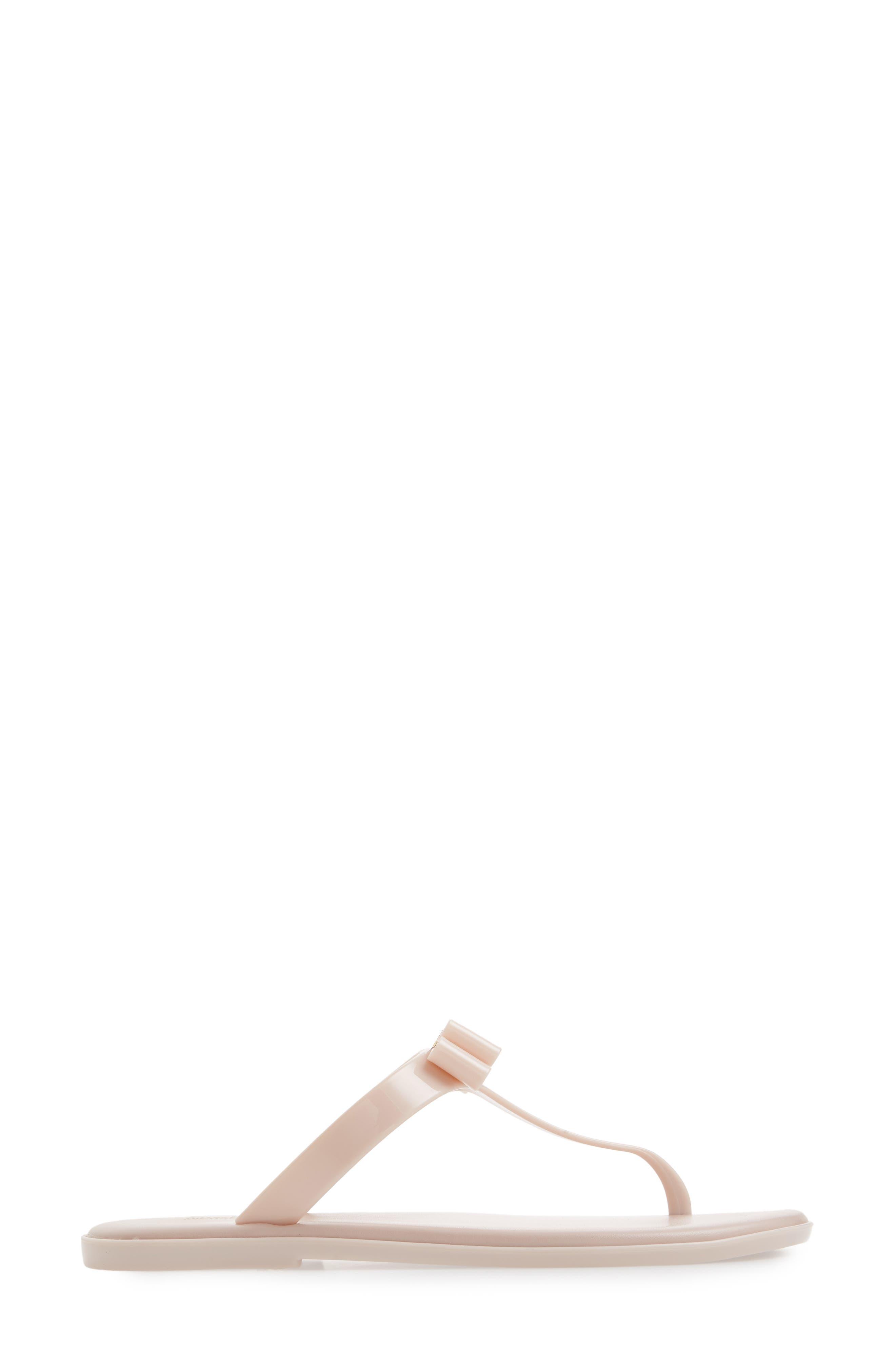 Caroline Jelly Flip Flop,                             Alternate thumbnail 3, color,                             Soft Pink