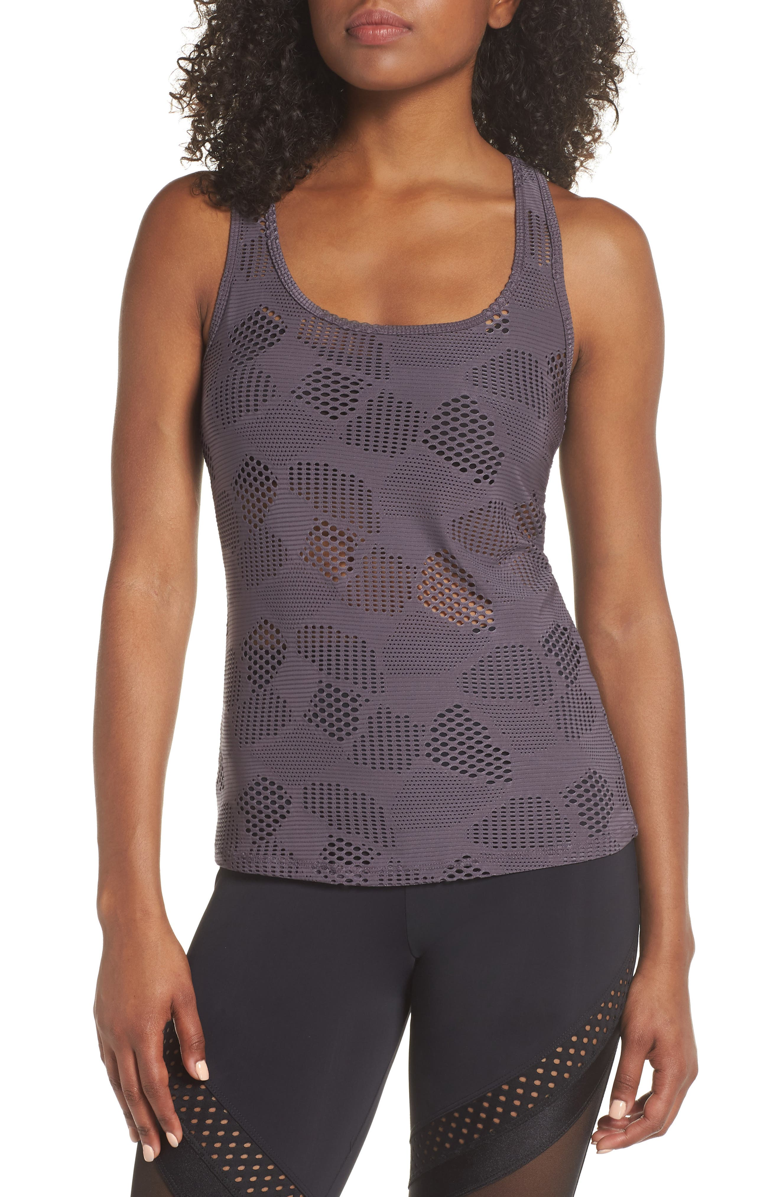 Racer Tank,                         Main,                         color, Graphite Honeycomb