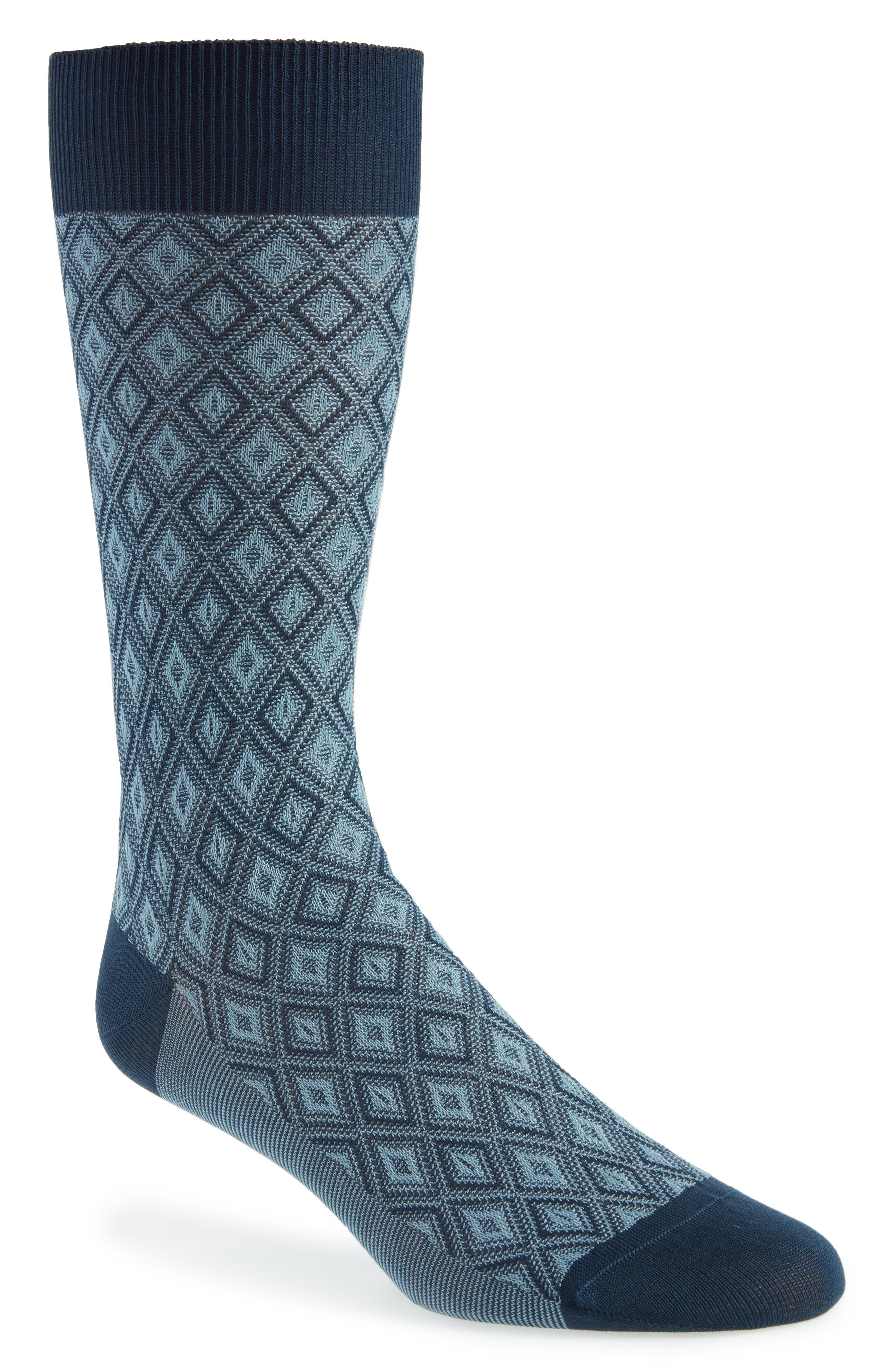 Pantherella Diamond Crew Socks