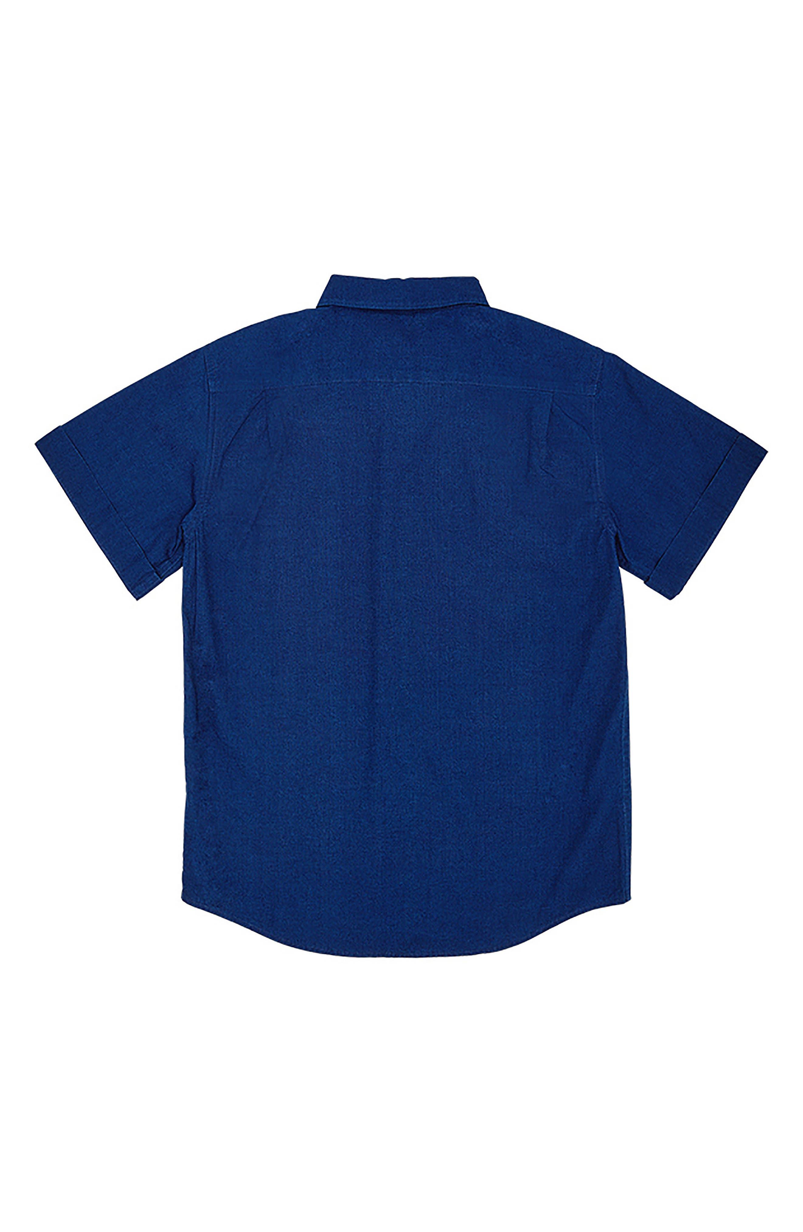 DL 1961 Ash Woven Shirt,                             Alternate thumbnail 2, color,                             Indigo Plaid