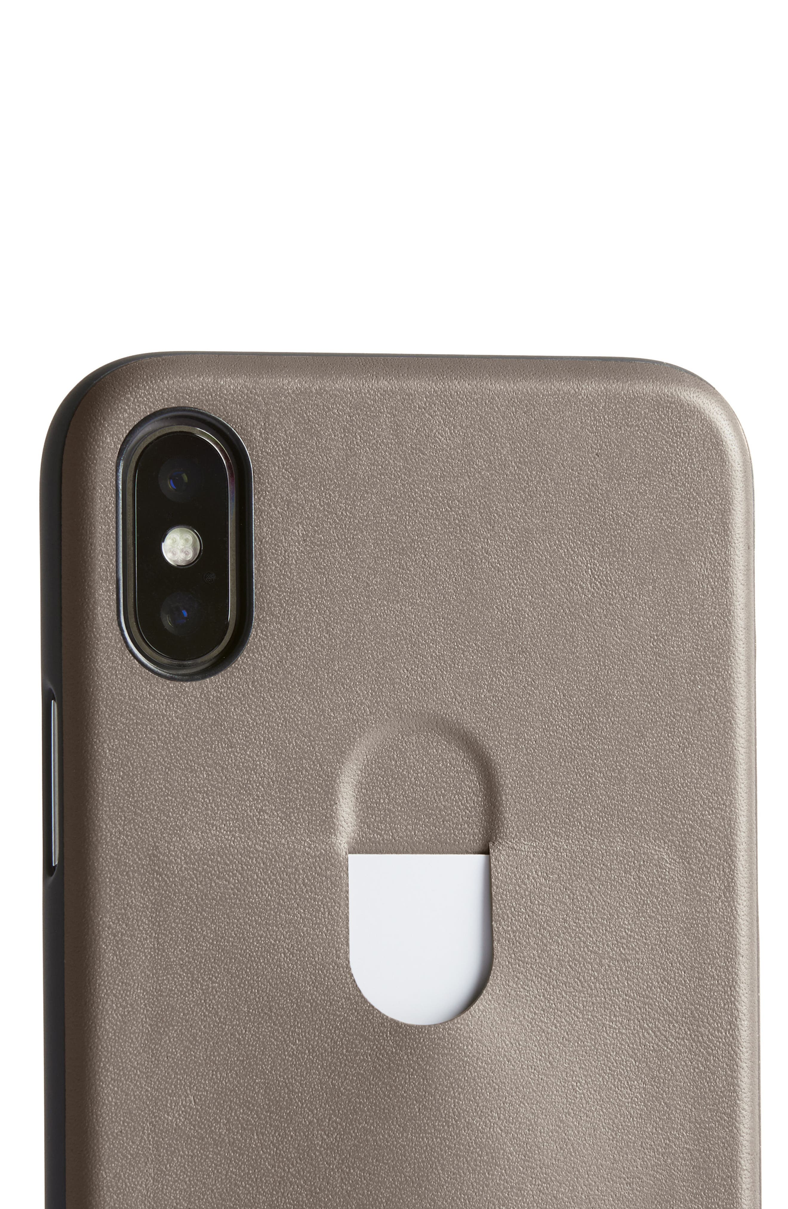 Single Card iPhone X Case,                             Alternate thumbnail 4, color,                             Stone