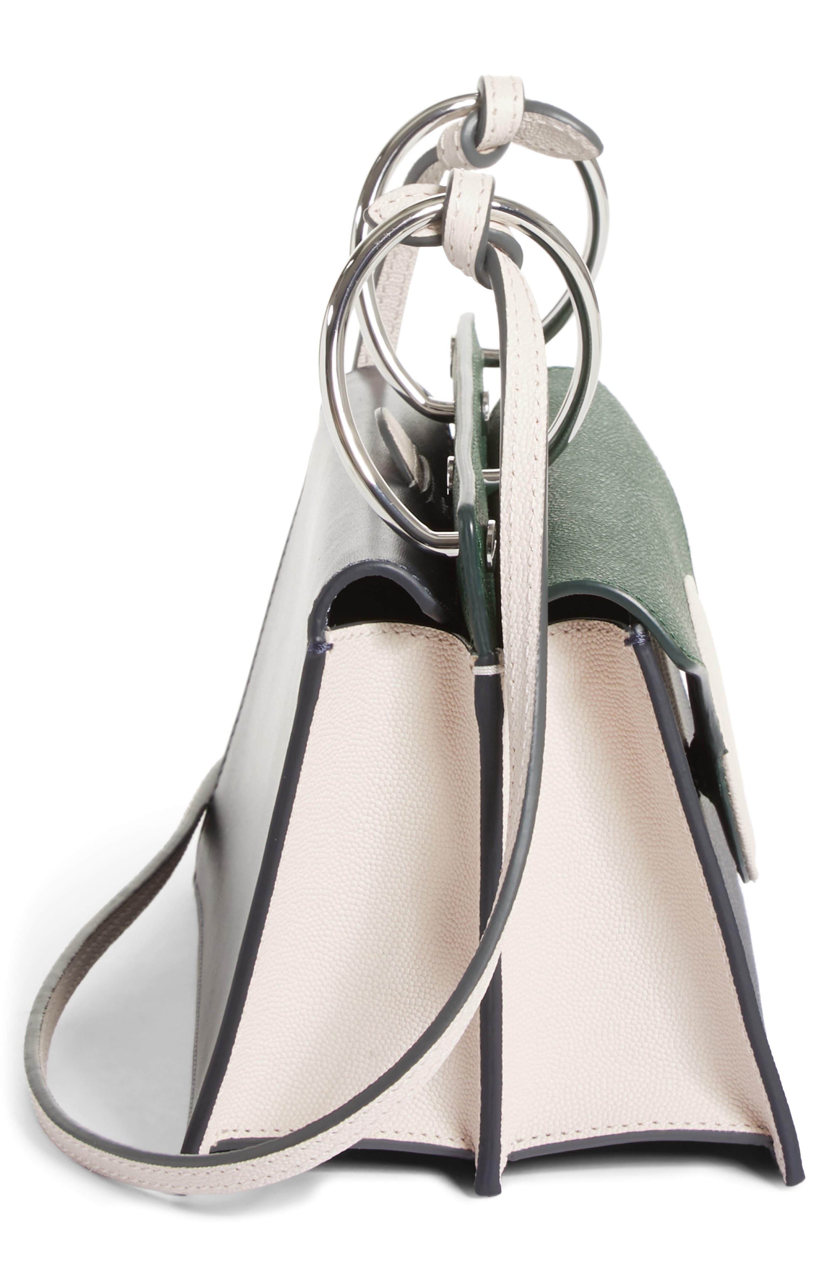 Mini Phoebe Leather Bag,                             Alternate thumbnail 5, color,                             Pine-Marine