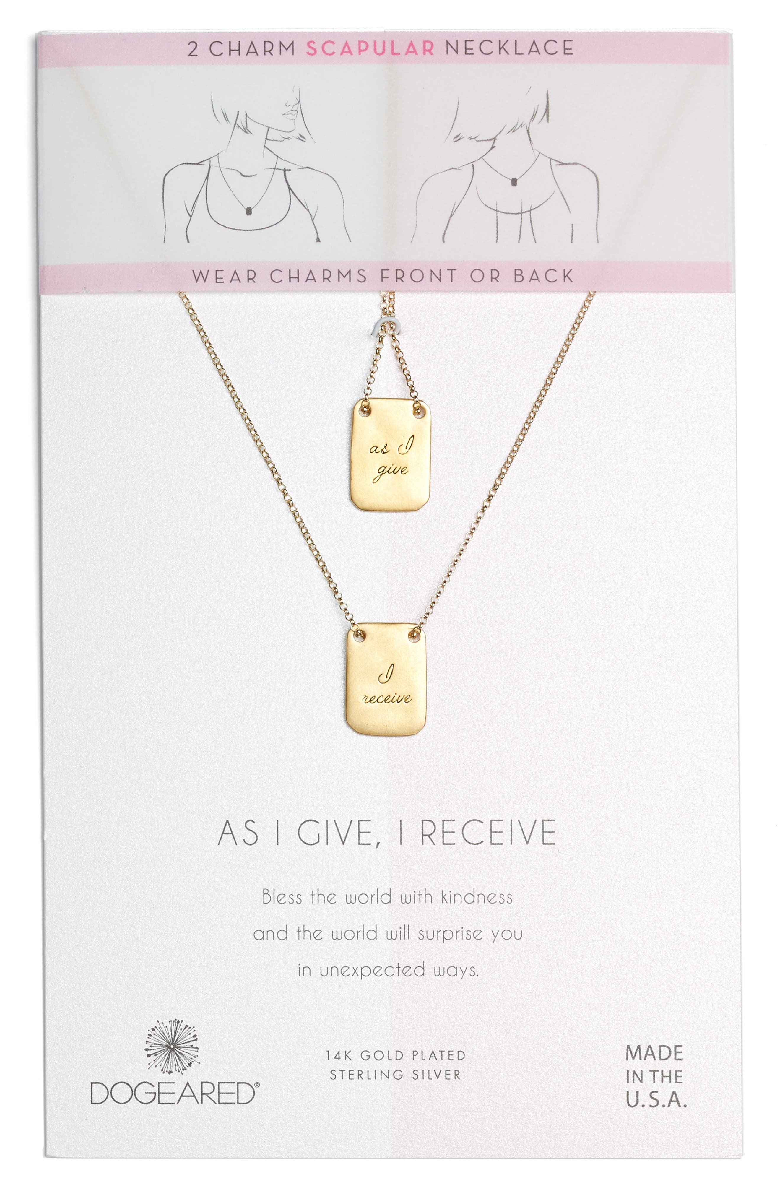 As I Give I Receive Layered Necklace,                             Main thumbnail 1, color,                             Gold