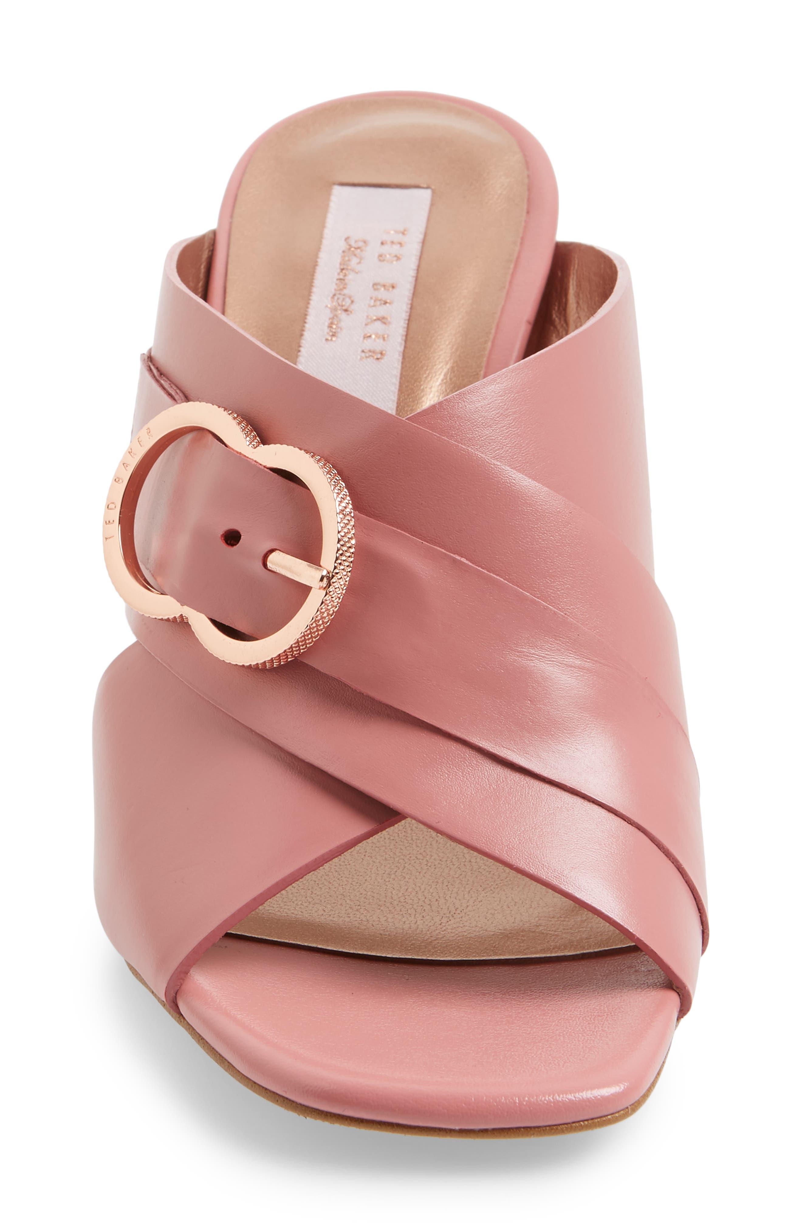 Malada Slide Sandal,                             Alternate thumbnail 4, color,                             Pink Leather