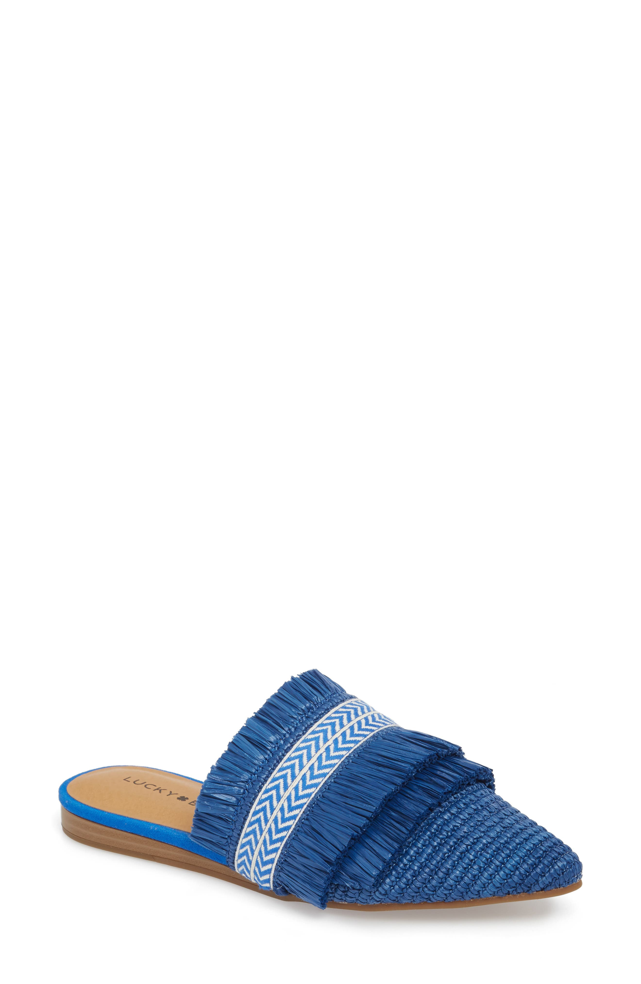 LUCKY BRAND Baoss Mule in Lapis Leather