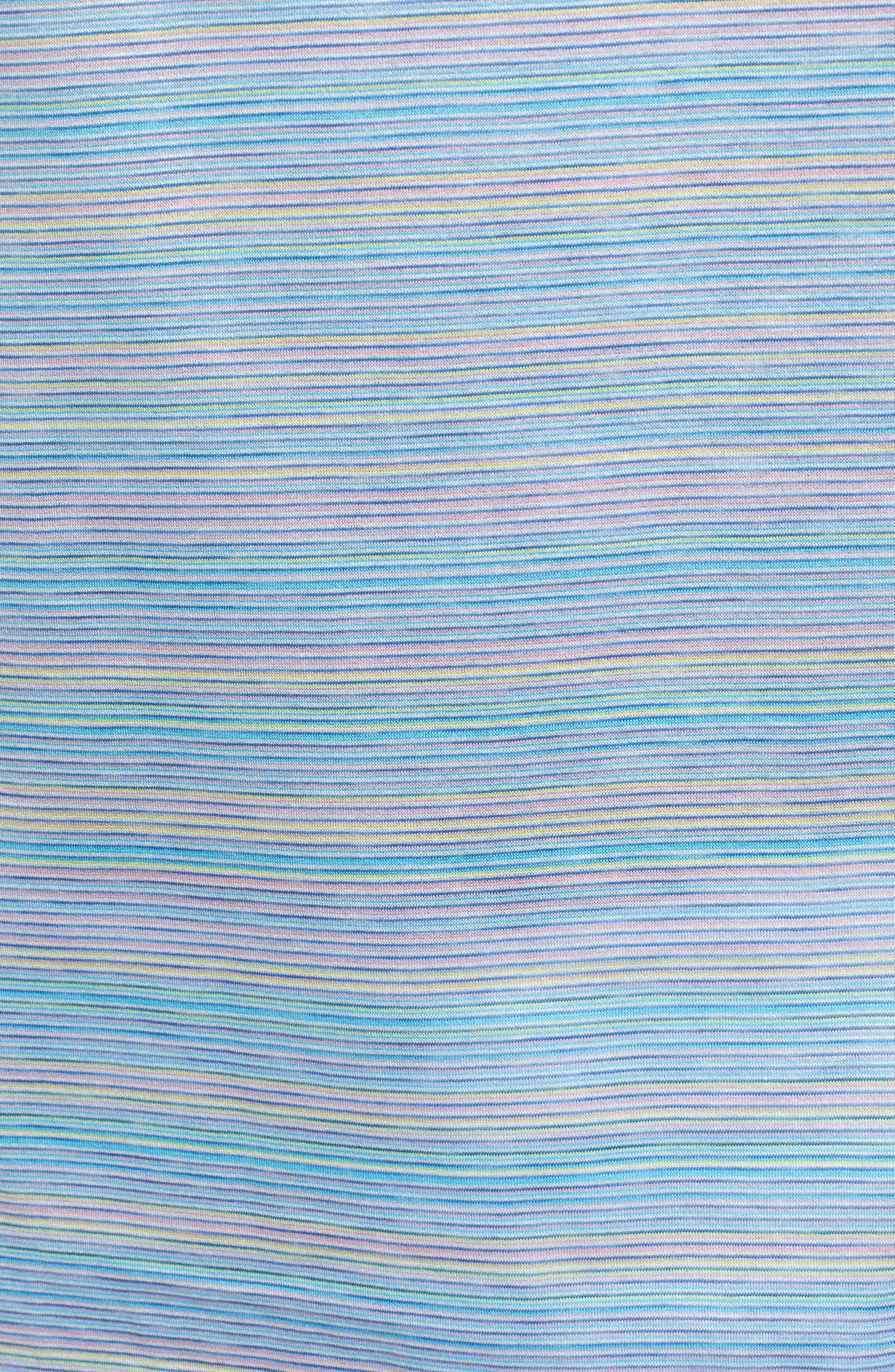 Stripe Mercerized Cotton Polo,                             Alternate thumbnail 5, color,                             Lilac