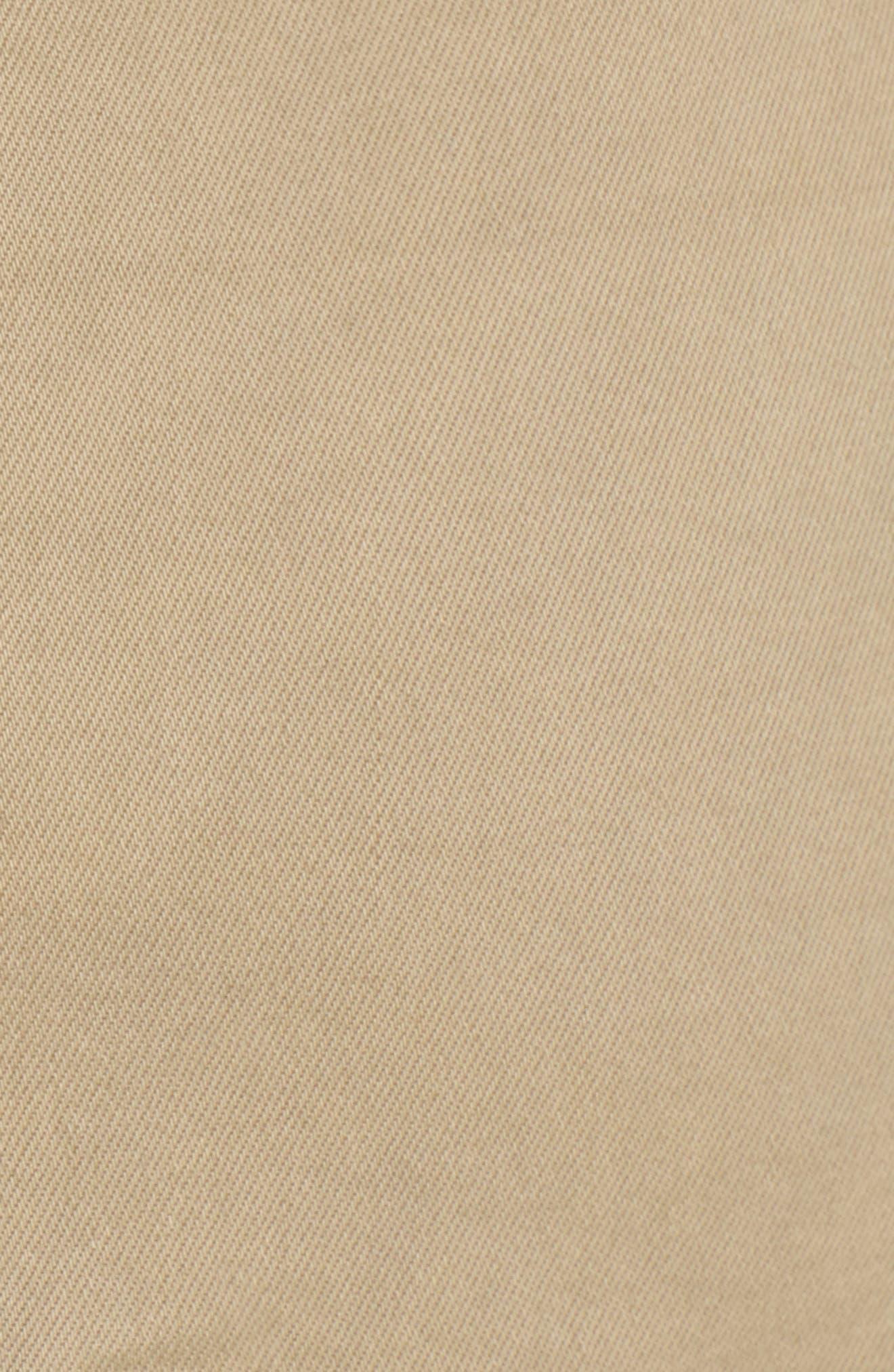 Tiered Fray Hem Skirt,                             Alternate thumbnail 5, color,                             Beige Nougat