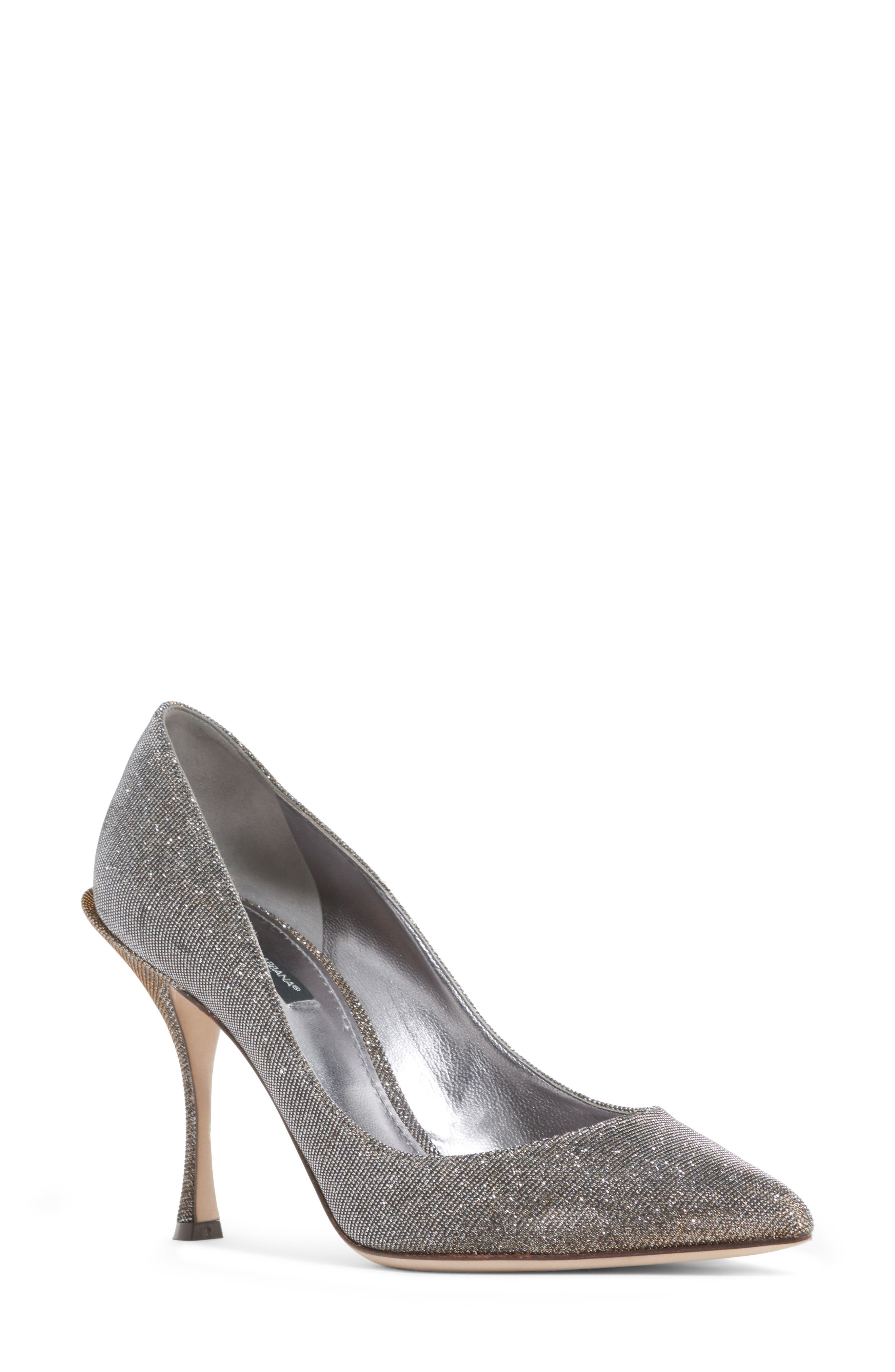 Dolce&Gabbana Metallic Pointy Toe Pump (Women)