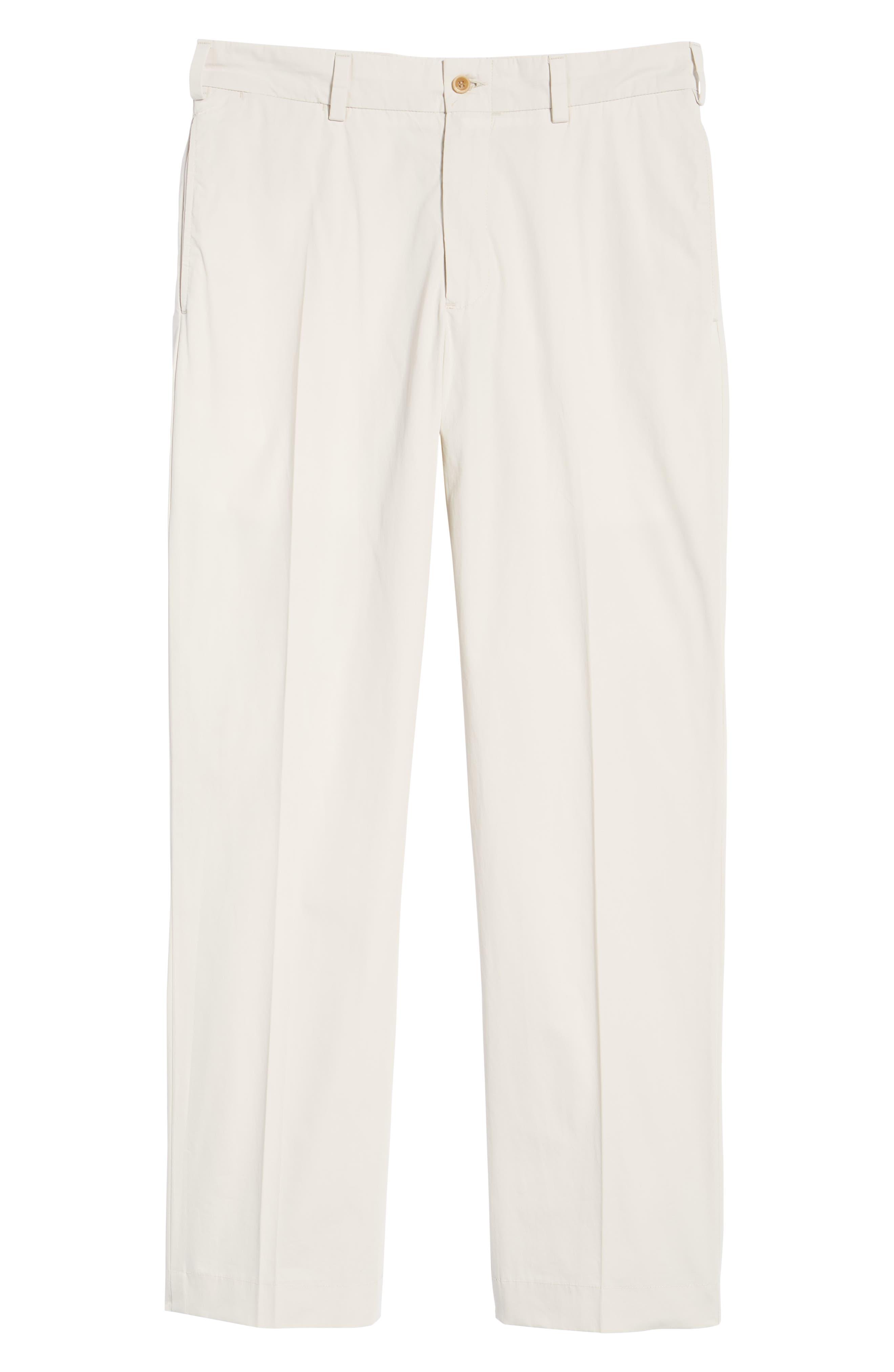 M2 Classic Fit Flat Front Tropical Cotton Poplin Pants,                             Alternate thumbnail 6, color,                             Sand