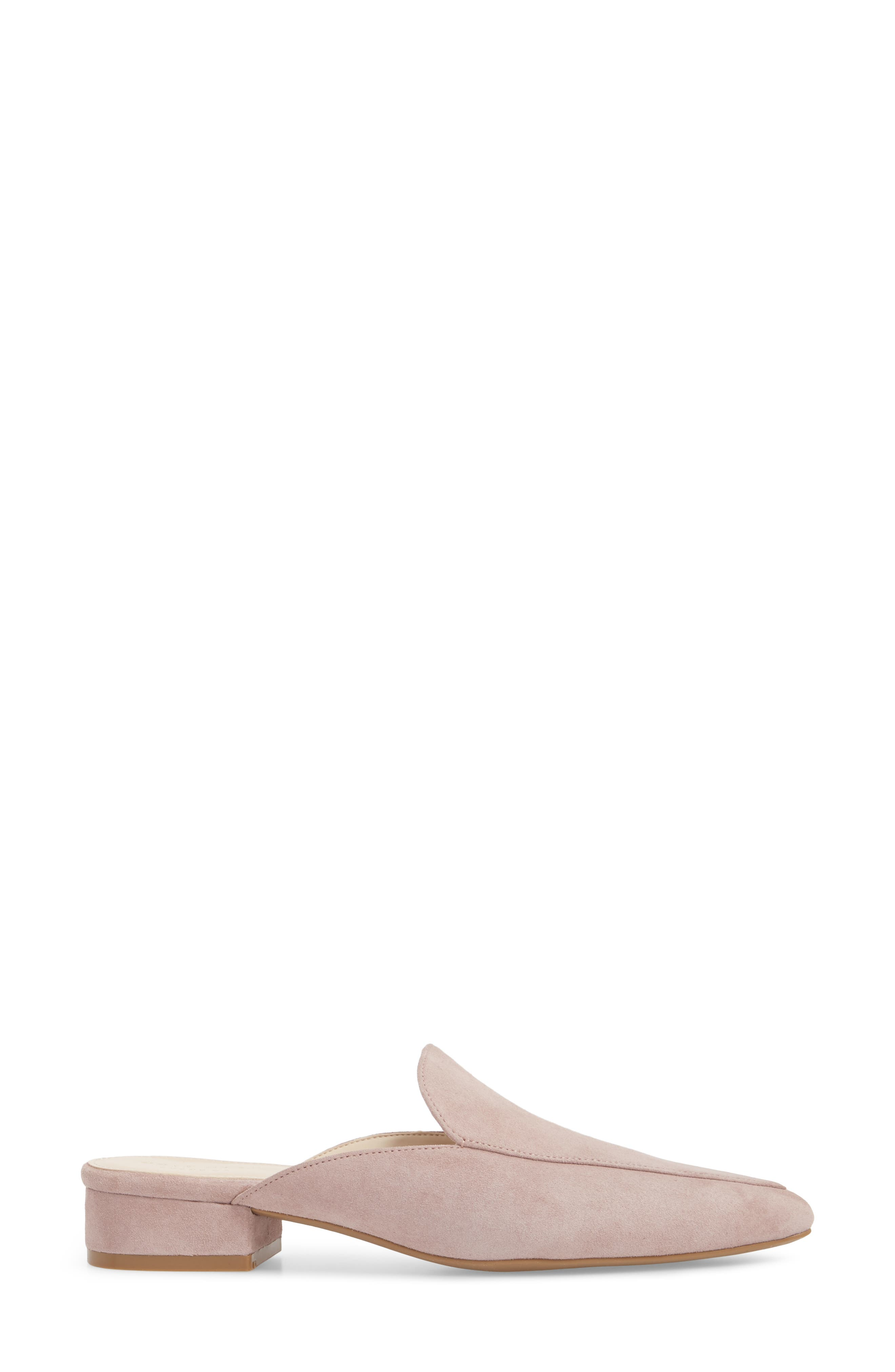 Piper Loafer Mule,                             Alternate thumbnail 3, color,                             Twilight Mauve Suede