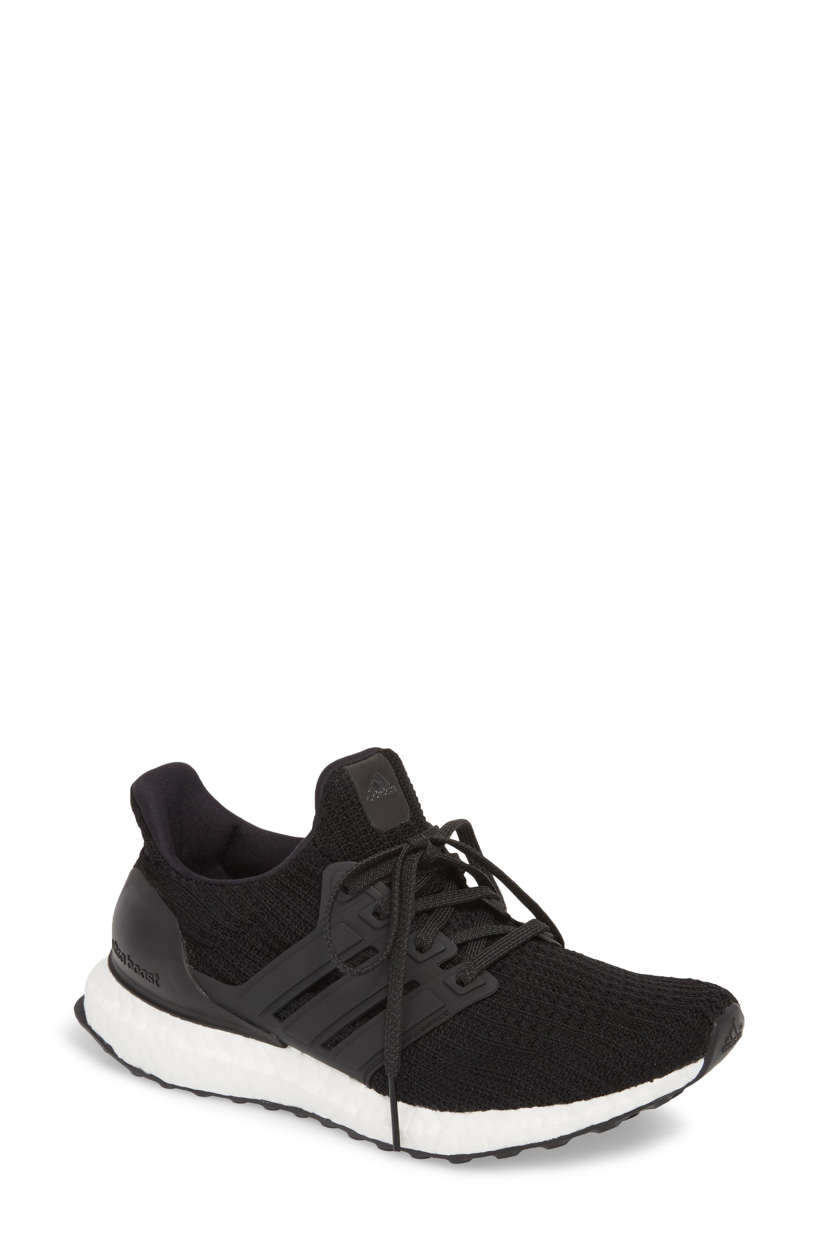 'UltraBoost' Running Shoe,                         Main,                         color, Core Black/ Core Black