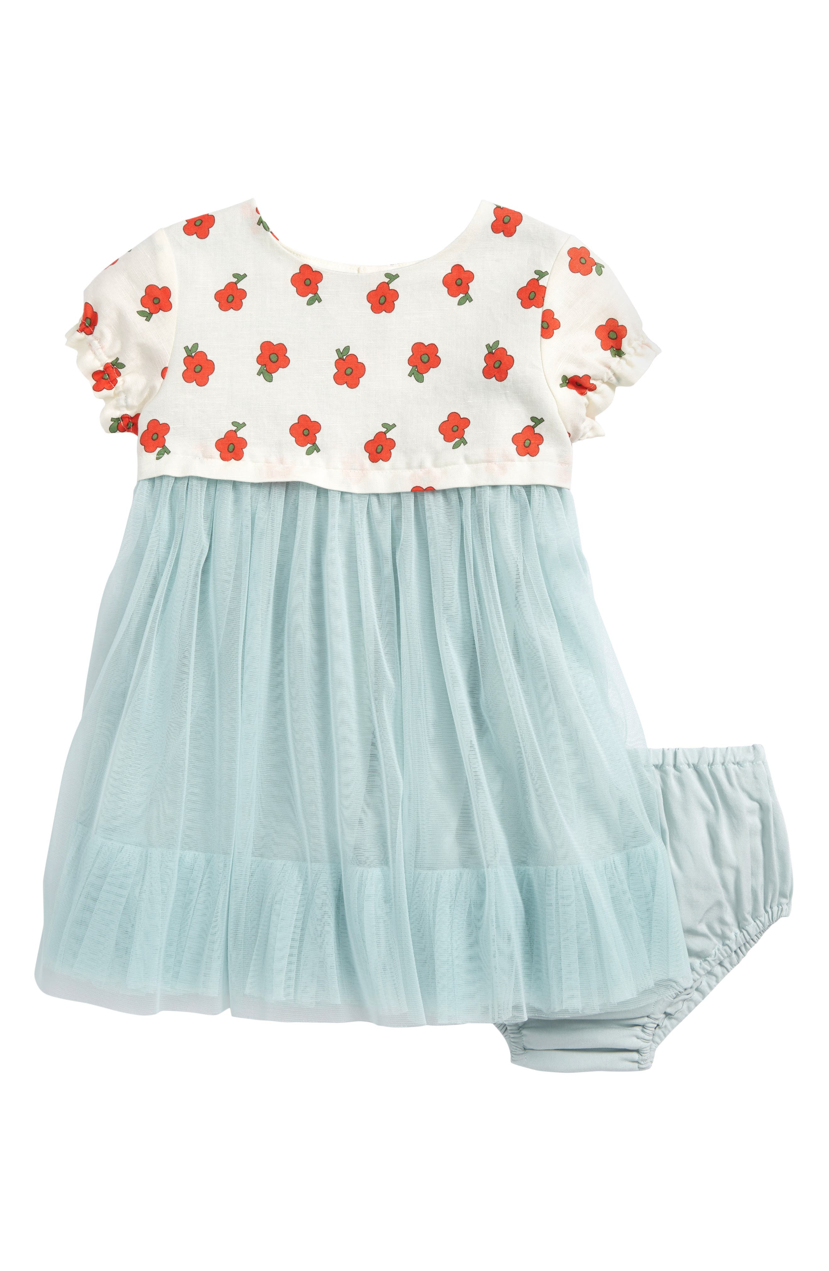 Main Image - Mini Boden Pretty Tulle Dress (Baby Girls)