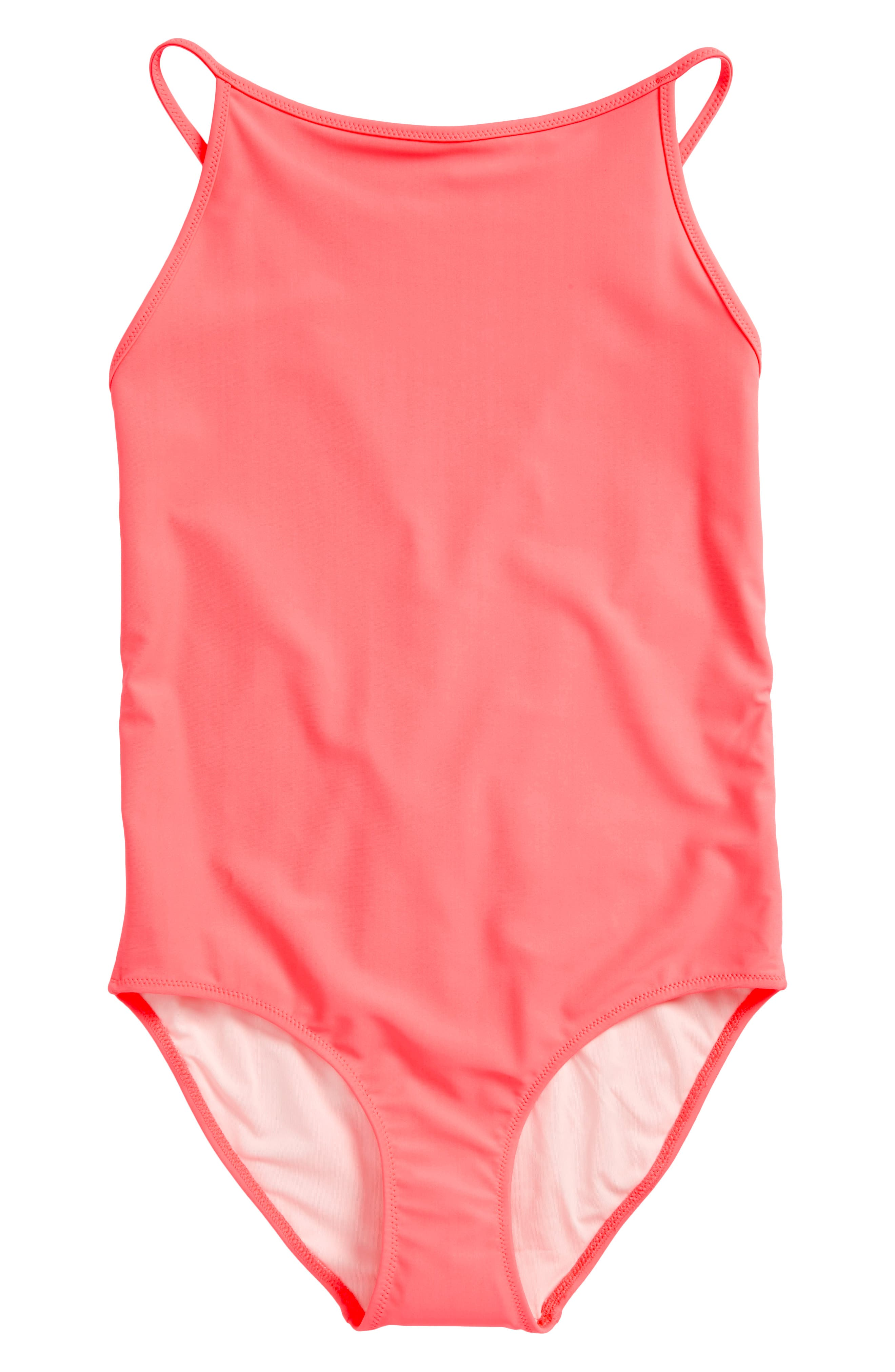Sandine One-Piece Swimsuit,                         Main,                         color, Bright Coral