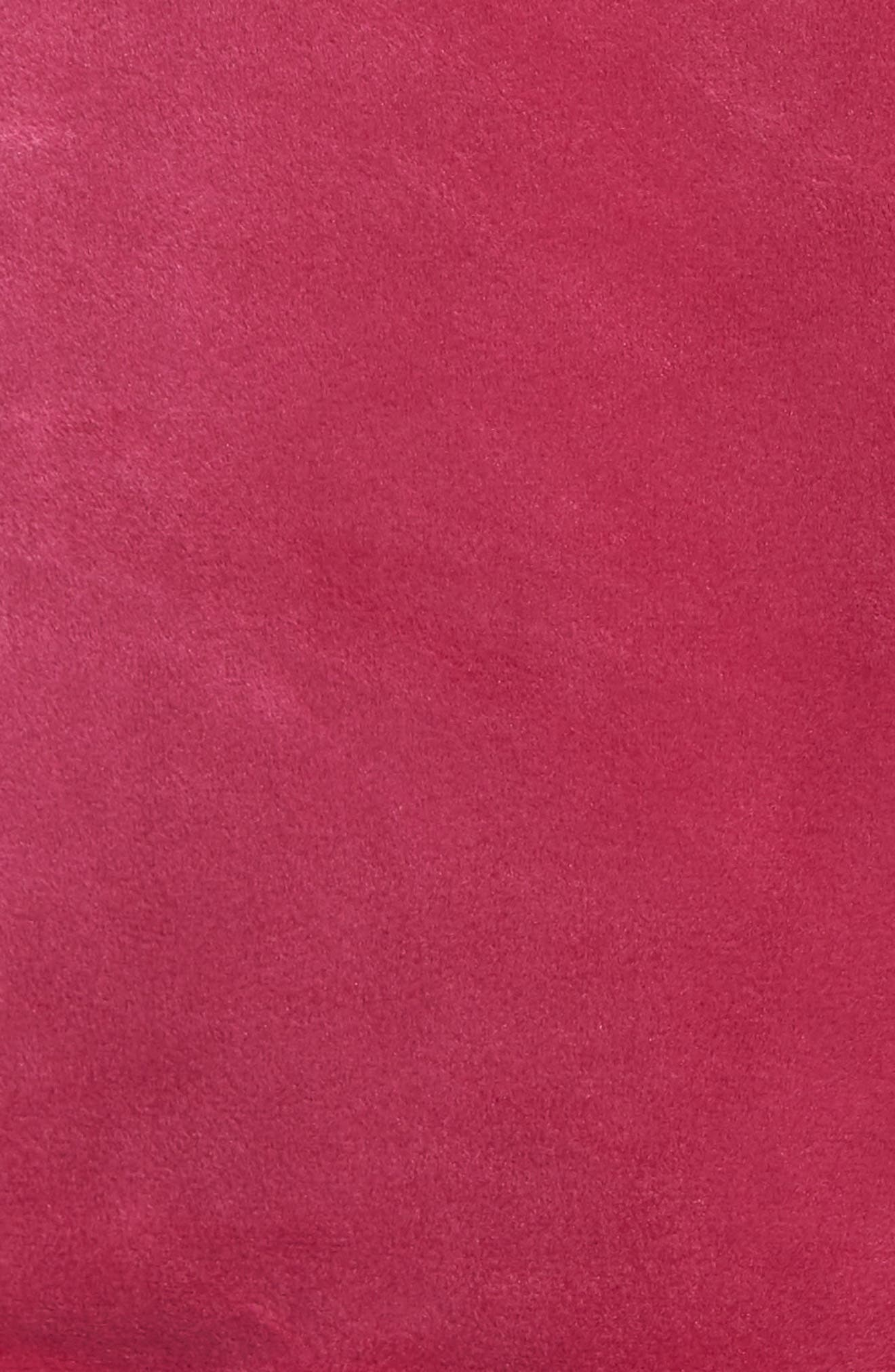 Asher Velour Hoodie Sweatshirt,                             Alternate thumbnail 5, color,                             Rasberry Radiance