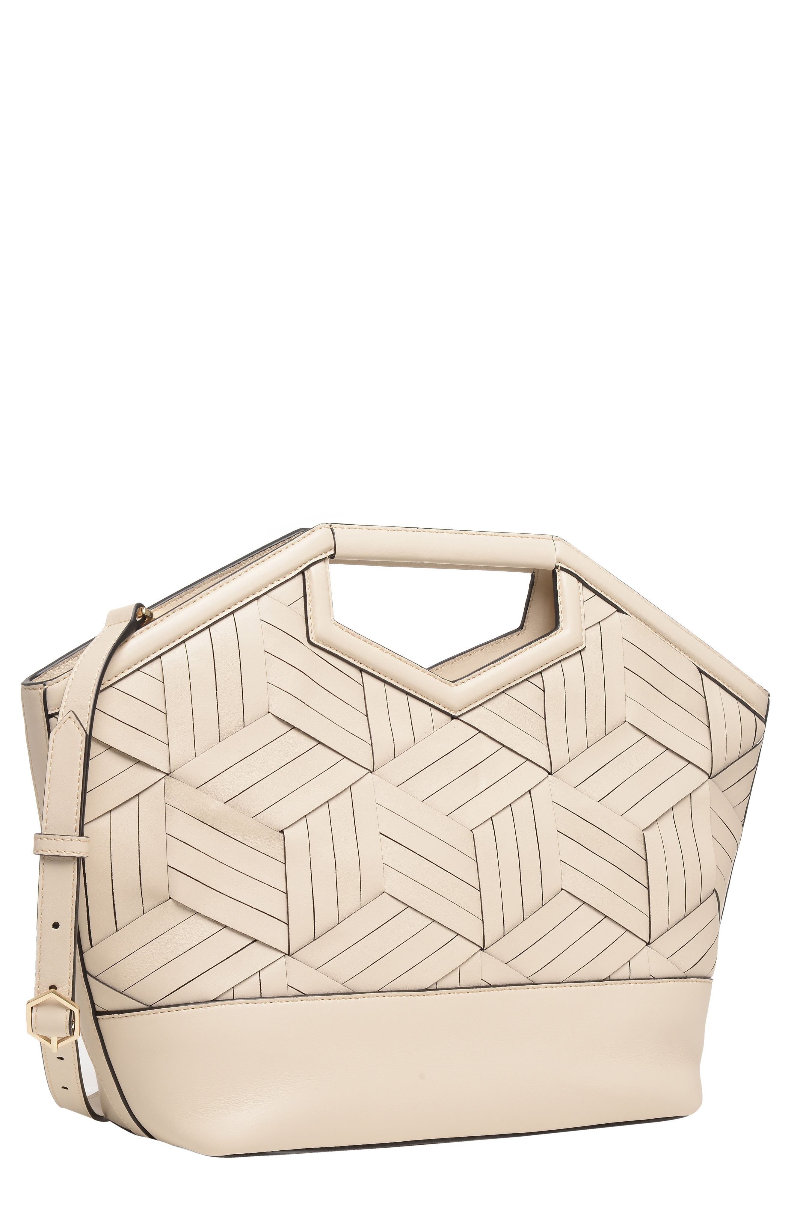 Sonder Leather Tote,                             Alternate thumbnail 4, color,                             Cement