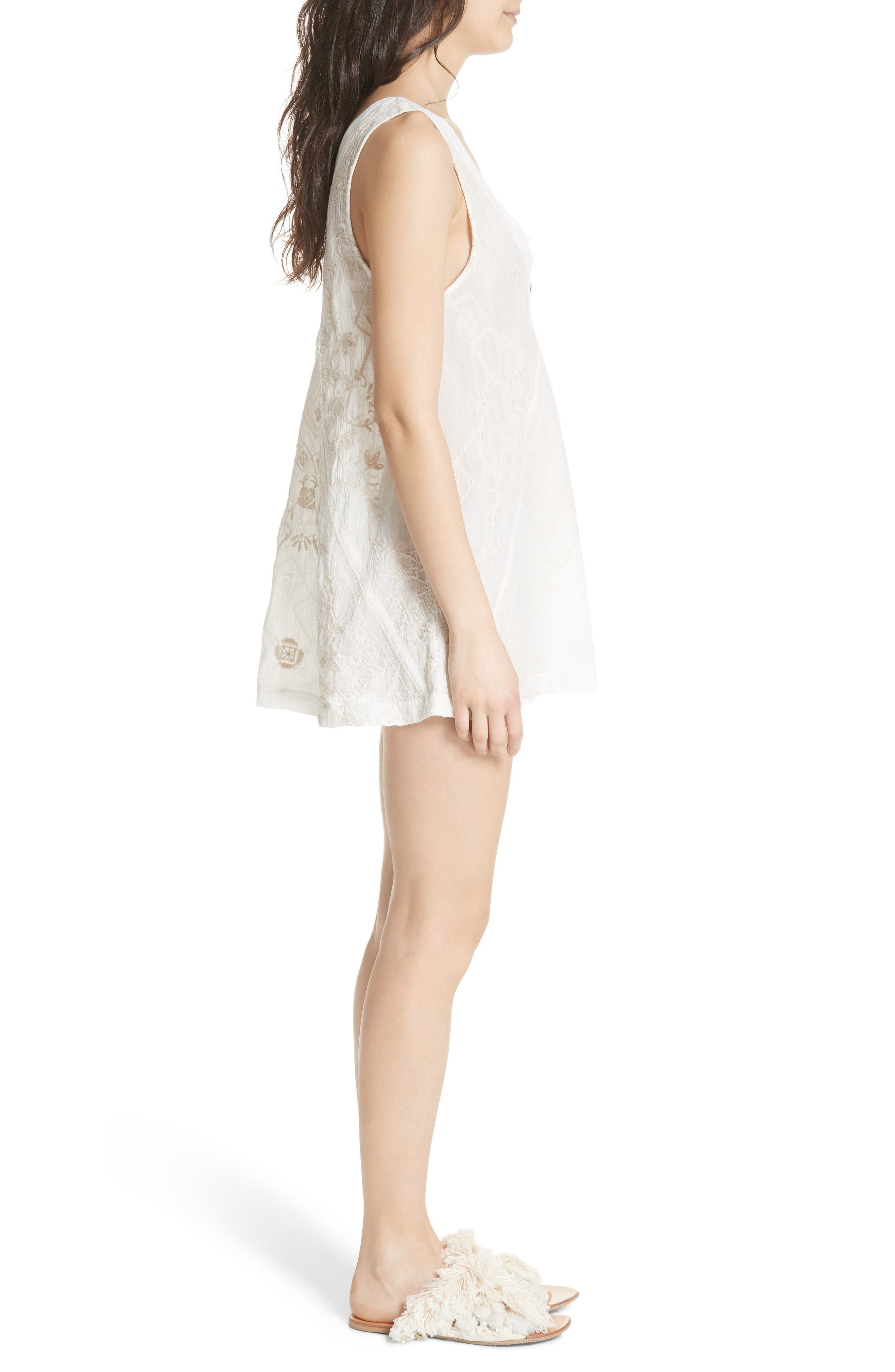 Sweetest Shifty Minidress,                             Alternate thumbnail 3, color,                             Ivory