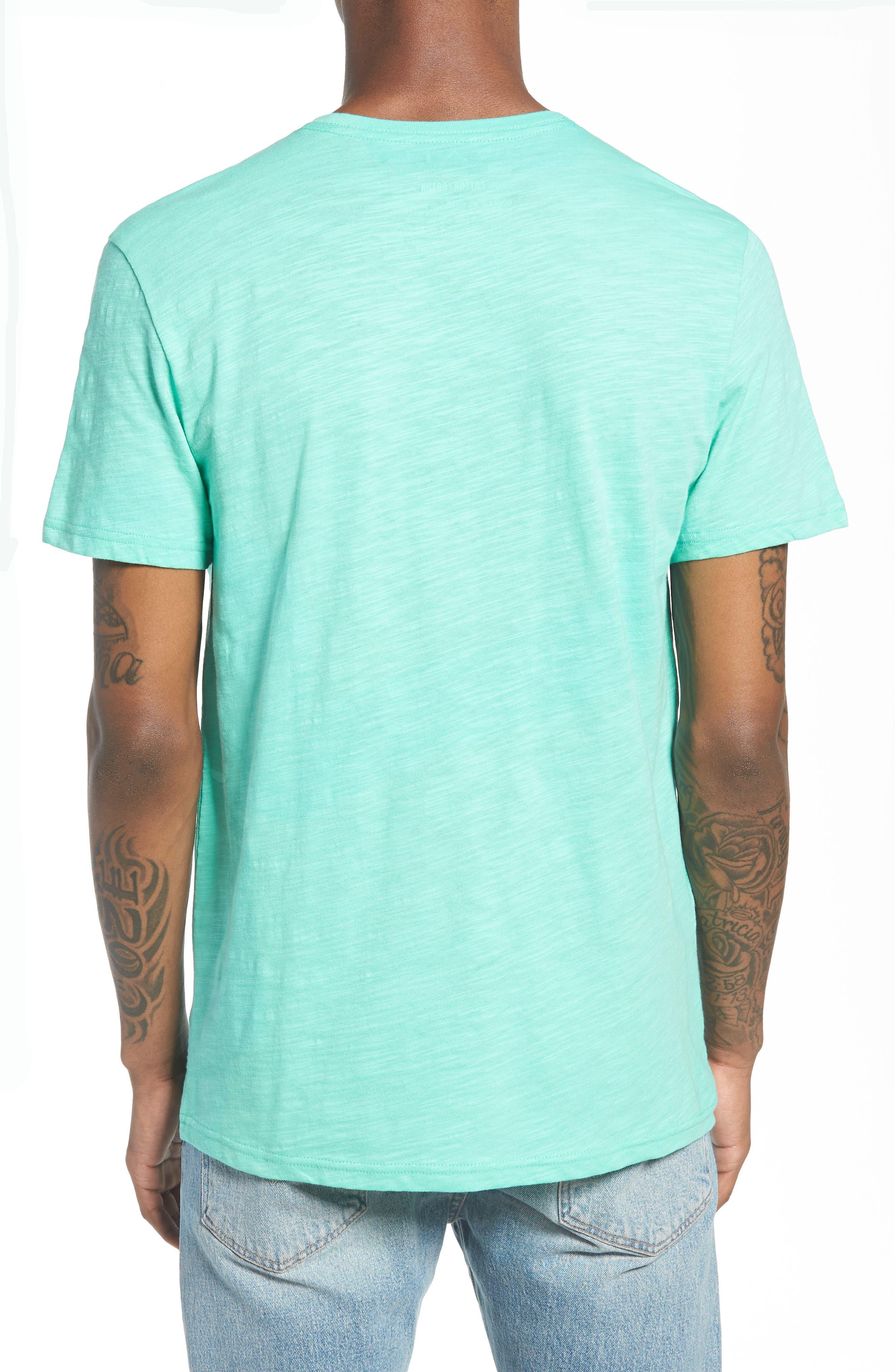 Slub Knit T-Shirt,                             Alternate thumbnail 2, color,                             Green Largo