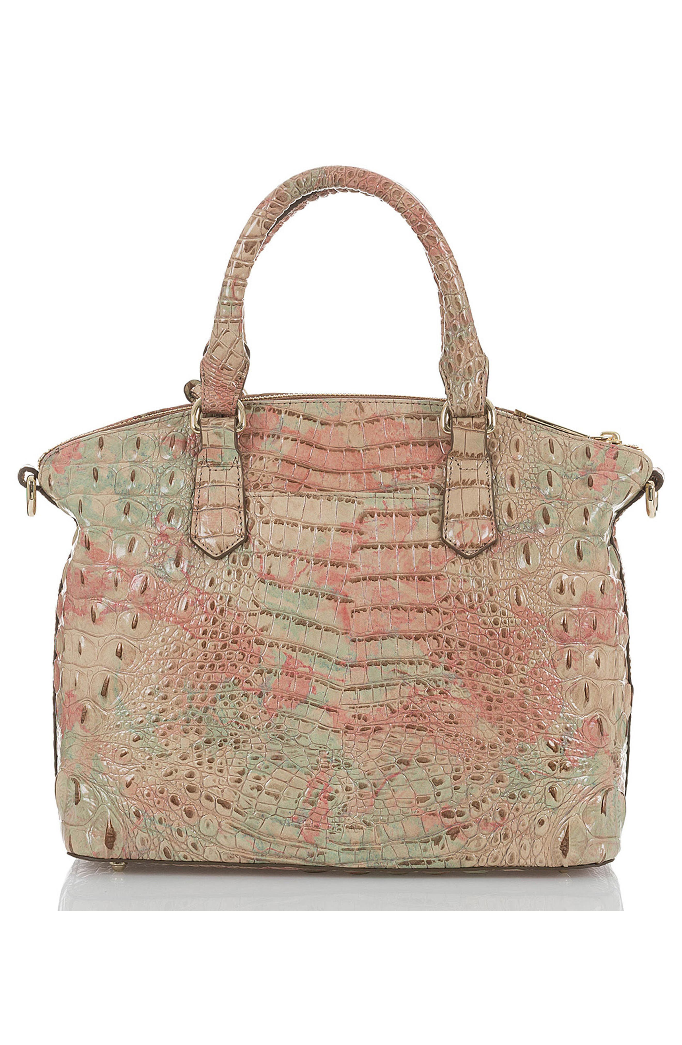 'Medium Duxbury' Croc Embossed Leather Satchel,                             Alternate thumbnail 3, color,                             Sahara