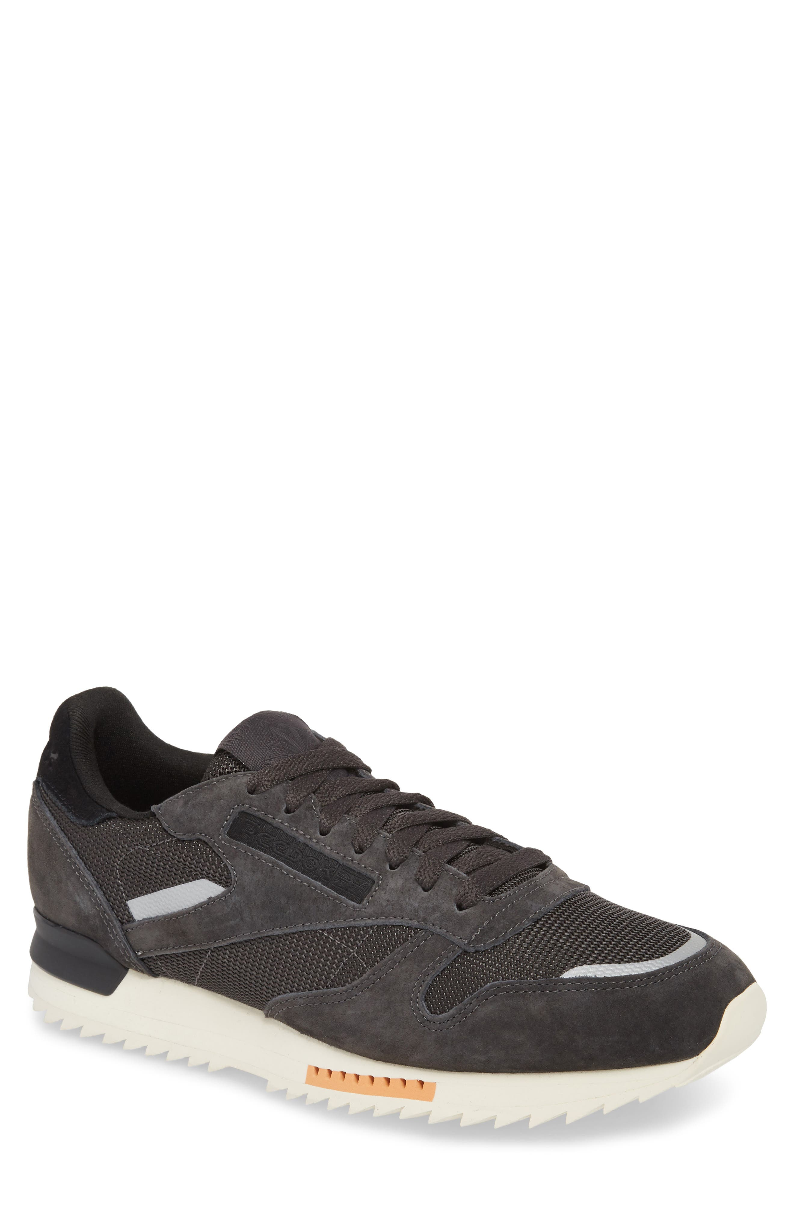 Classic Leather Ripple Sneaker,                             Main thumbnail 1, color,                             Coal/ Grey/ White/ Black/ Dust