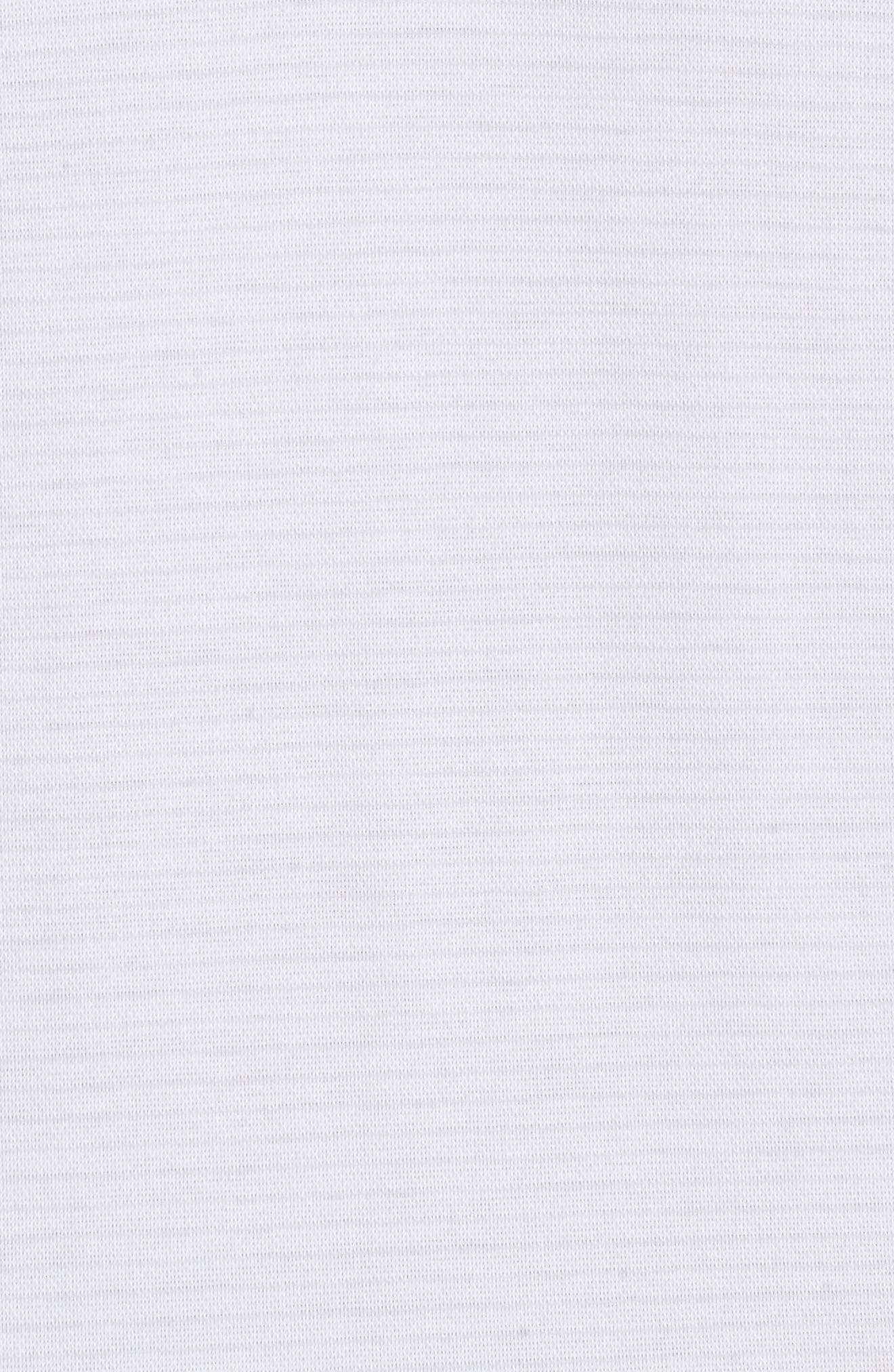 Reece Pinstripe Polo,                             Alternate thumbnail 5, color,                             White/ Micro Chip