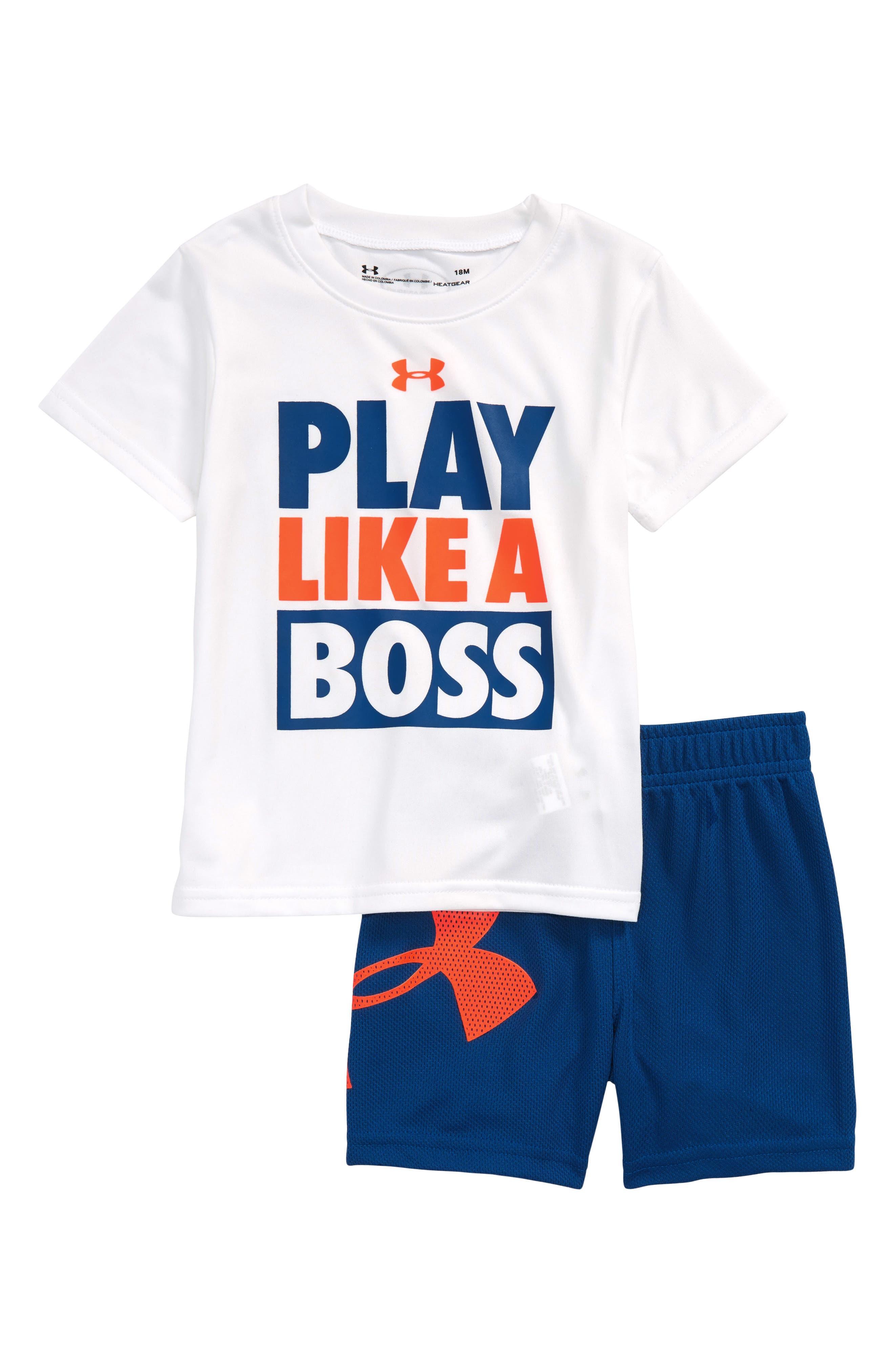 Under Armour Play Like a Boss HeatGear® T-Shirt & Mesh Shorts Set (Baby Boys)