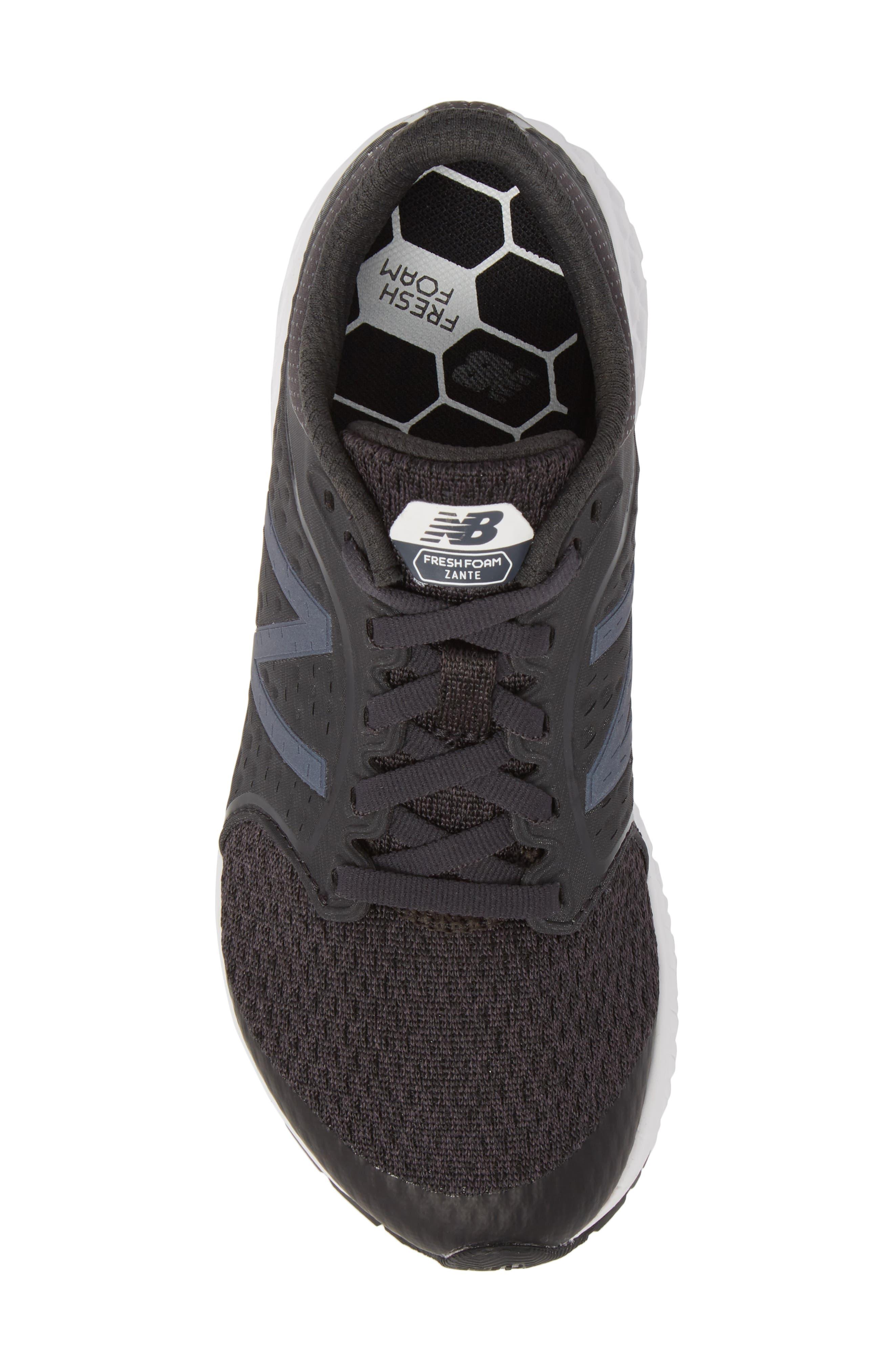 Fresh Foam Zante v4 Running Shoe,                             Alternate thumbnail 5, color,                             Black/ White