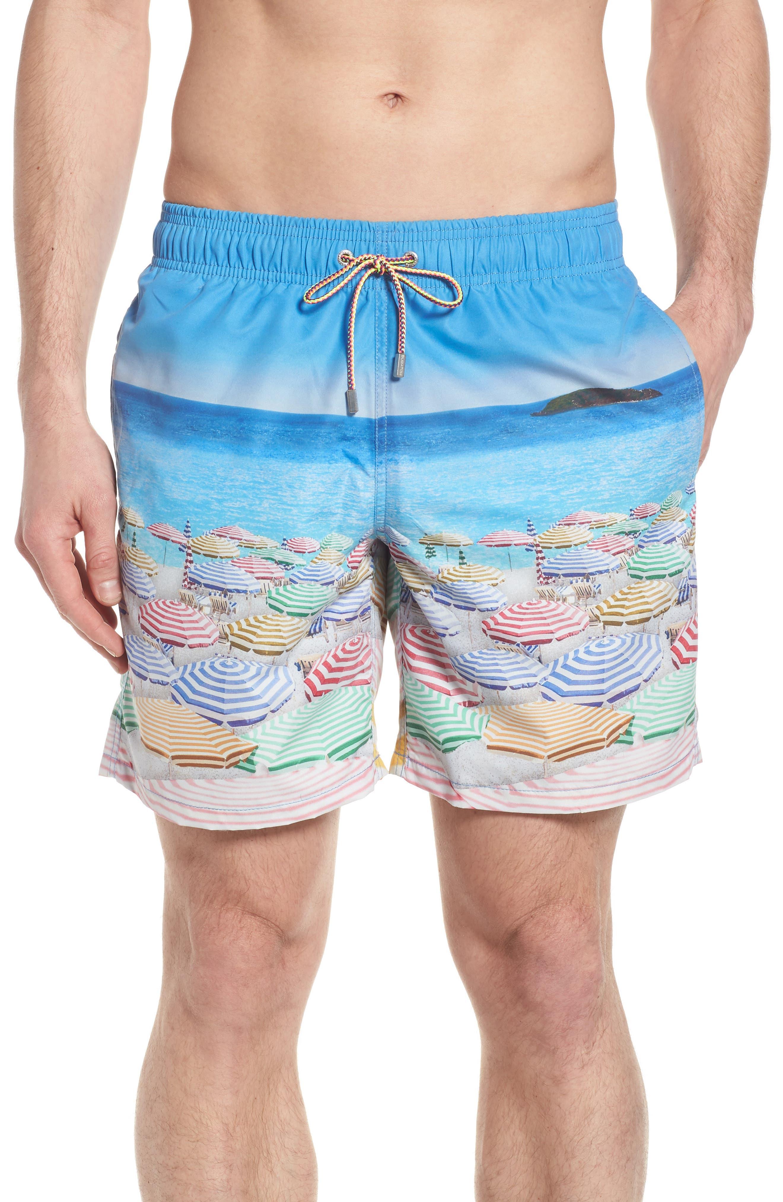 Swim Trunks,                             Main thumbnail 1, color,                             Ocean