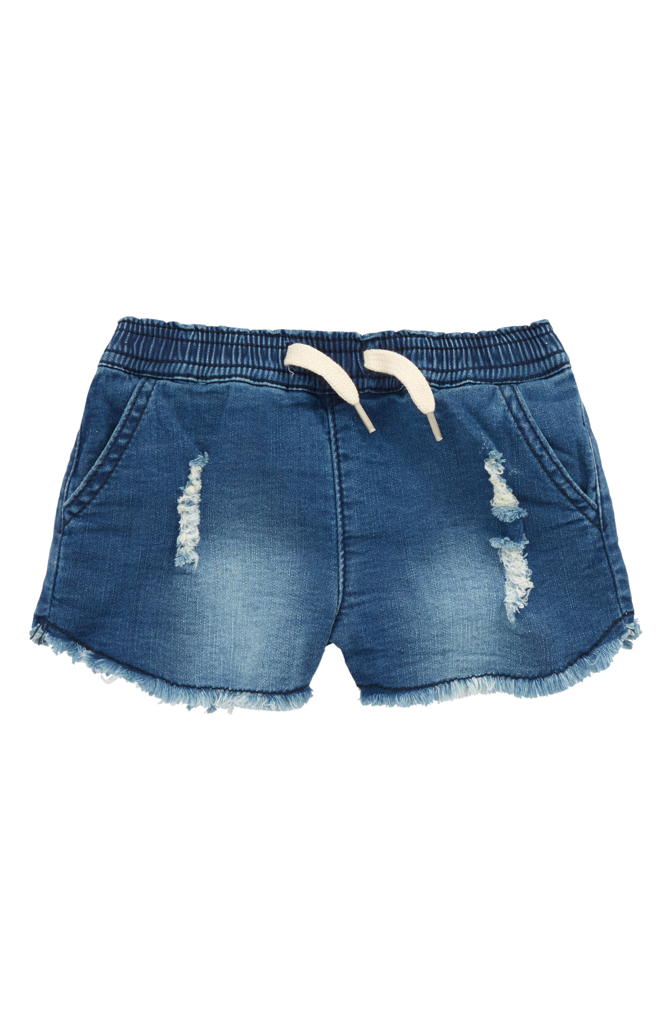 Alternate Image 1 Selected - Hudson Kids Katie French Terry Shorts (Baby Girls)