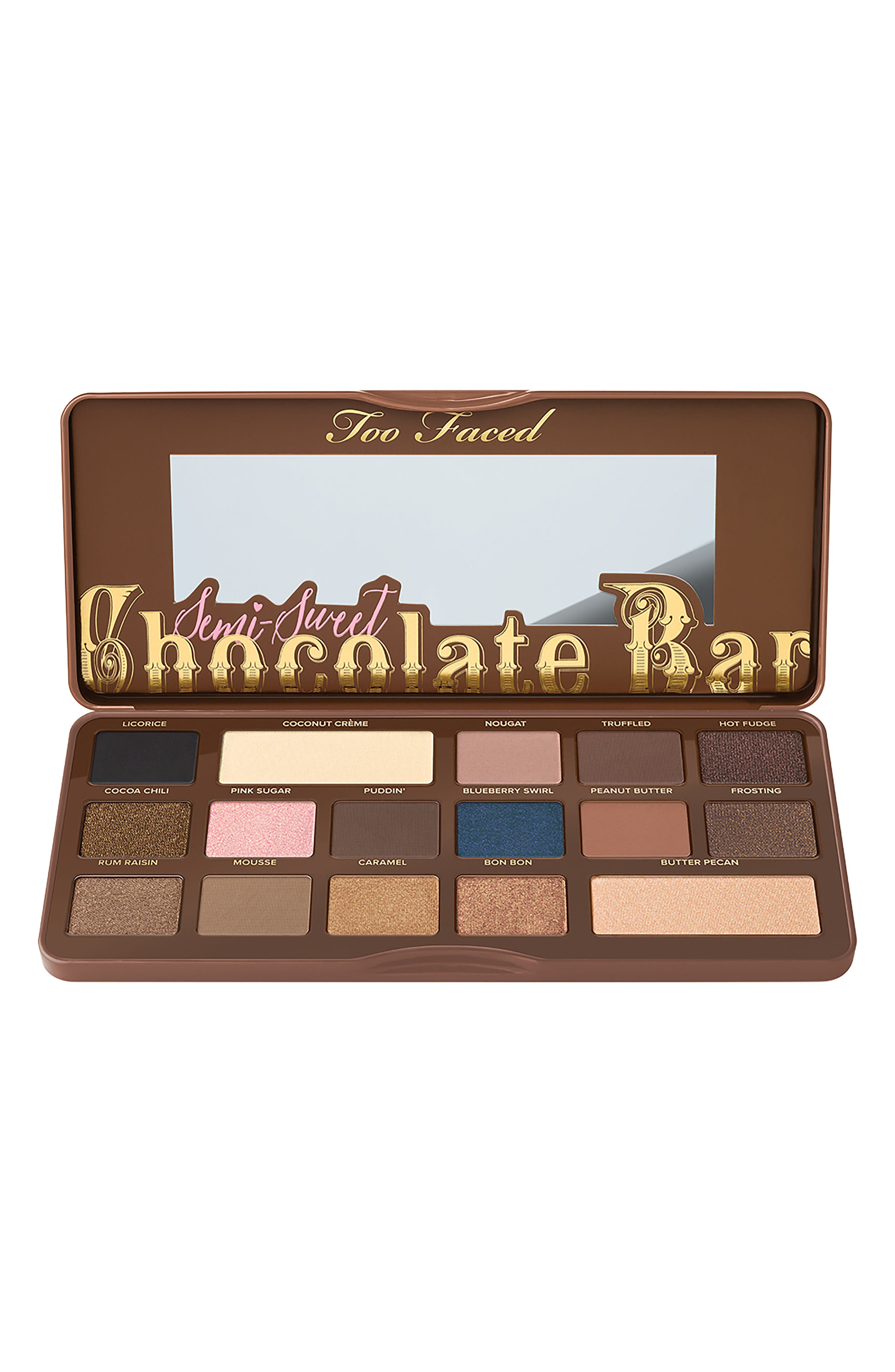 Semi-Sweet Chocolate Bar Eyeshadow Palette,                             Alternate thumbnail 3, color,                             No Color