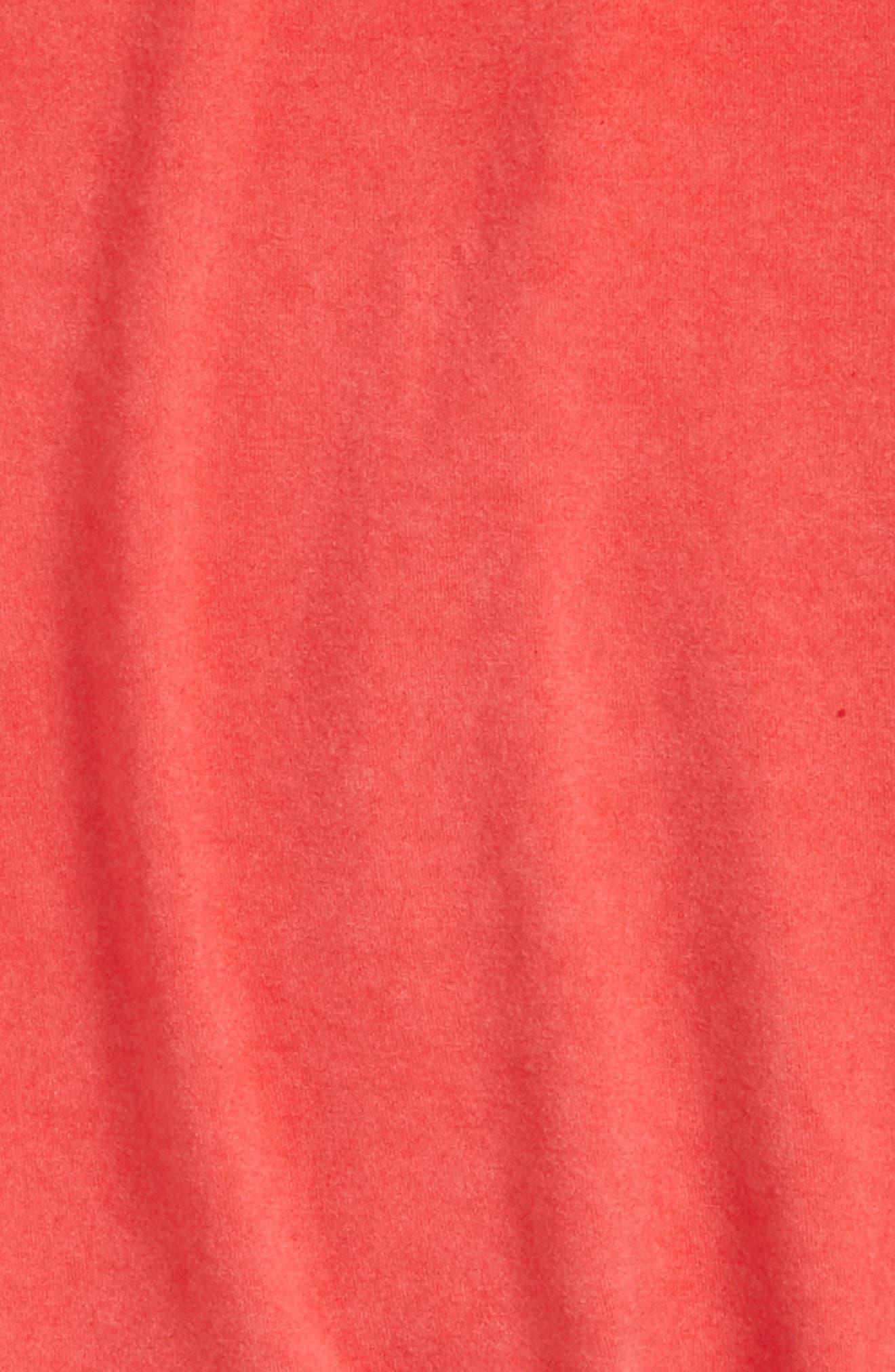 Peplum Tee,                             Alternate thumbnail 2, color,                             Coral Hot Wash