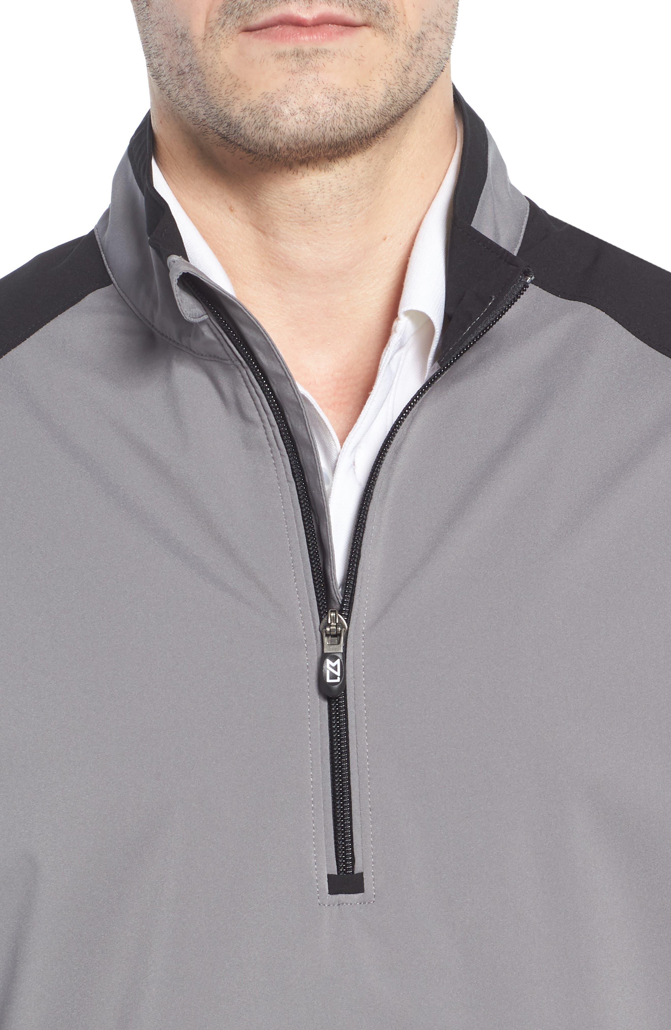 'Summit' WeatherTec Wind & Water Resistant Half Zip Jacket,                             Alternate thumbnail 4, color,                             Gravel