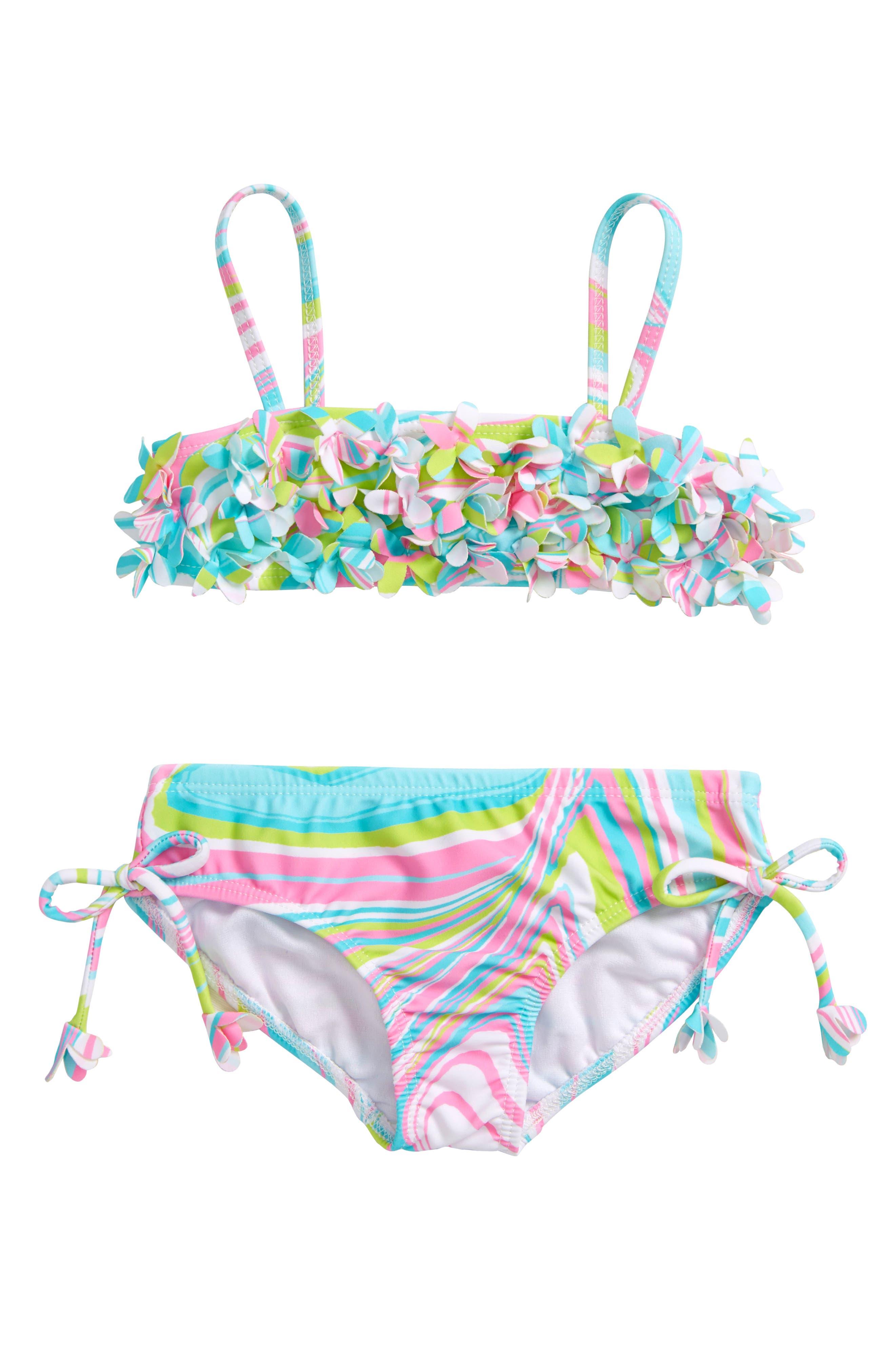 Two-Piece Swimsuit,                             Main thumbnail 1, color,                             Multi