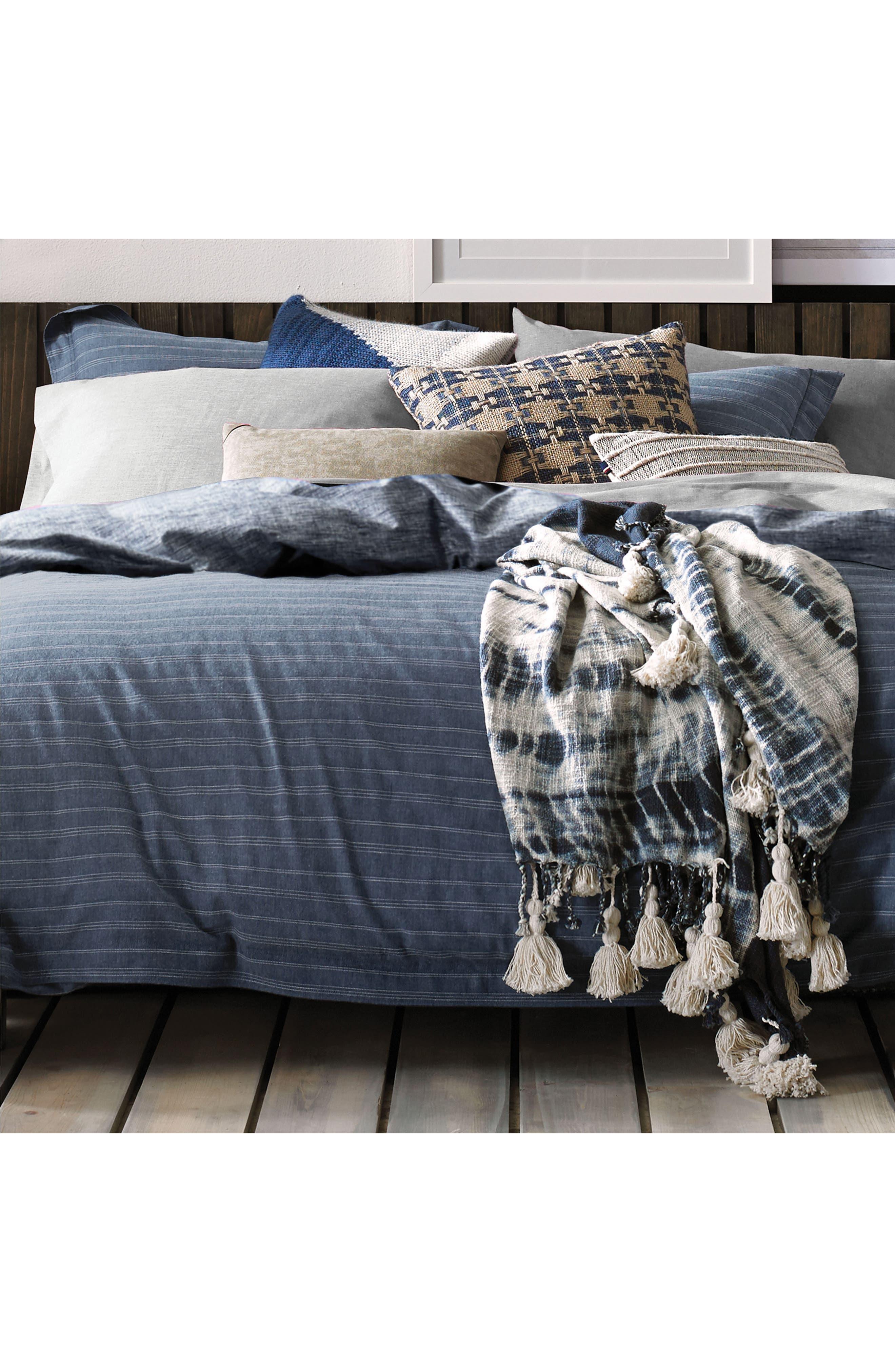 Vintage Pleated Comforter & Sham Set,                             Alternate thumbnail 2, color,                             Denim Blue