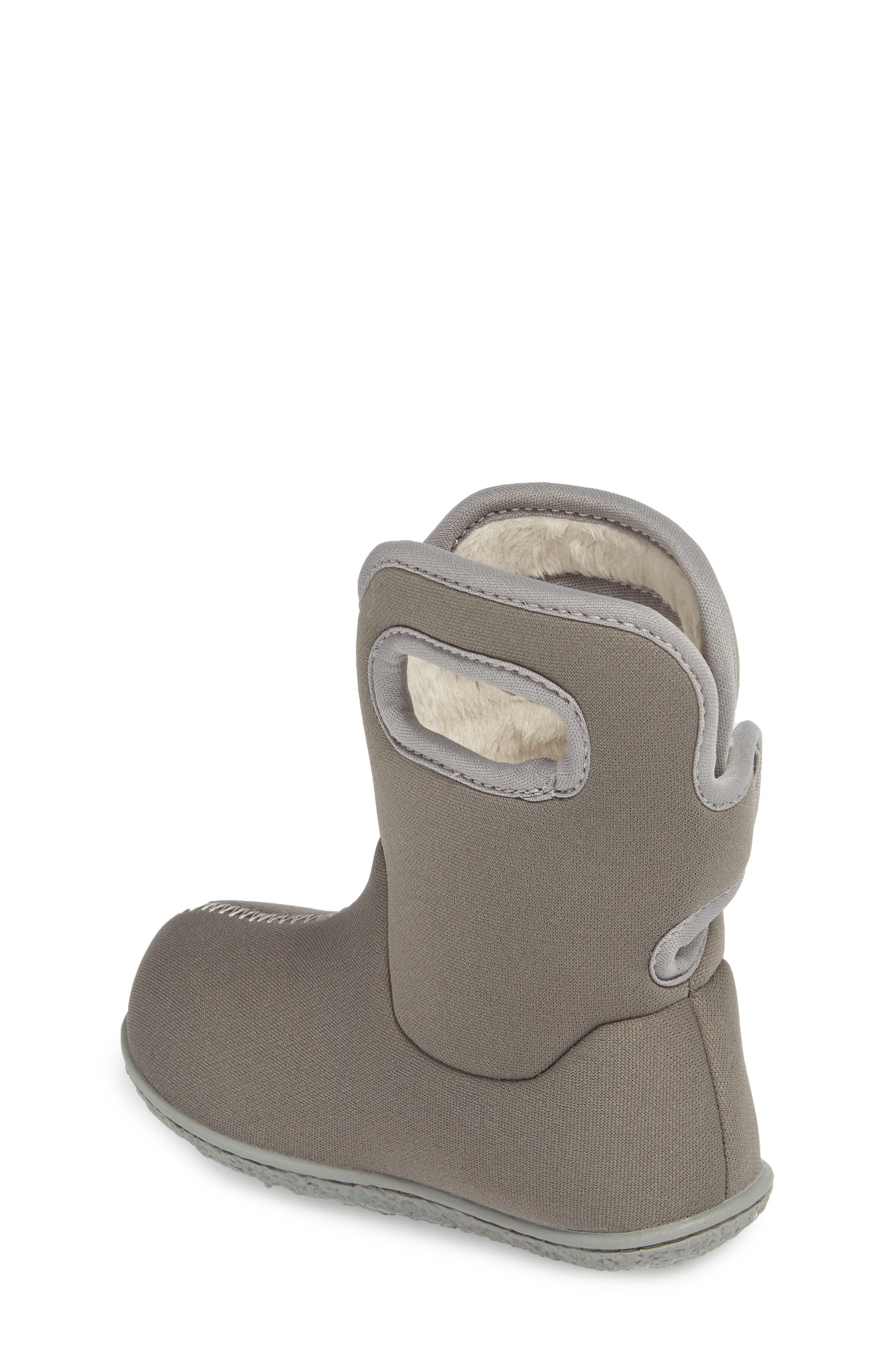 Classic Solid Insulated Waterproof Rain Boot,                             Alternate thumbnail 2, color,                             Light Gray Multi
