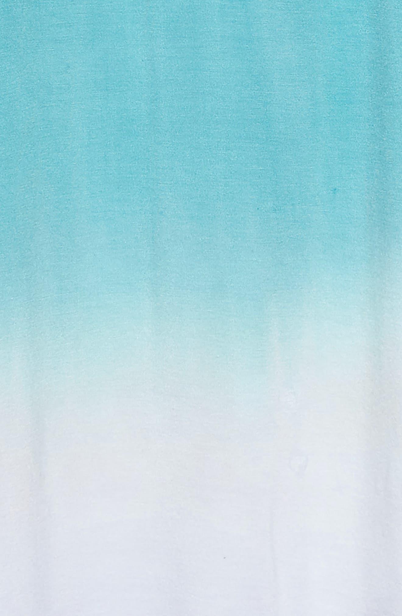 Grenadine Ombré T-Shirt Dress,                             Alternate thumbnail 3, color,                             Pool Blue