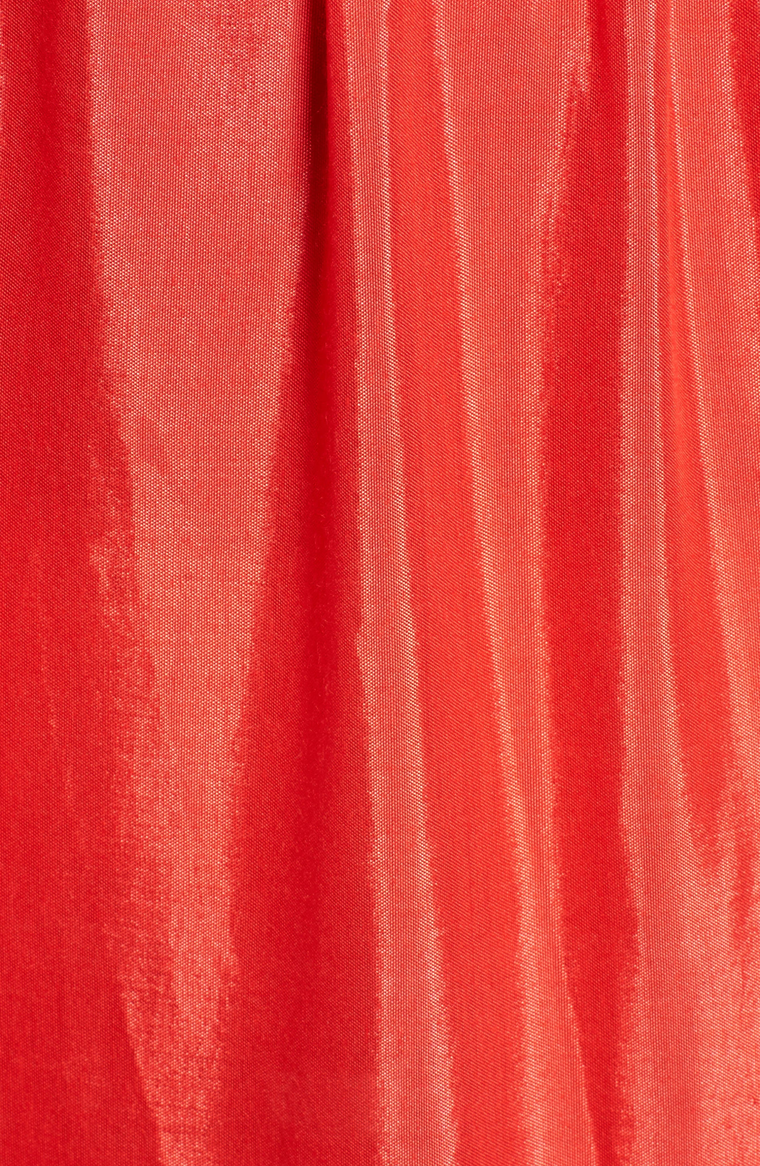 One-Shoulder Maxi Dress,                             Alternate thumbnail 6, color,                             Bright Red