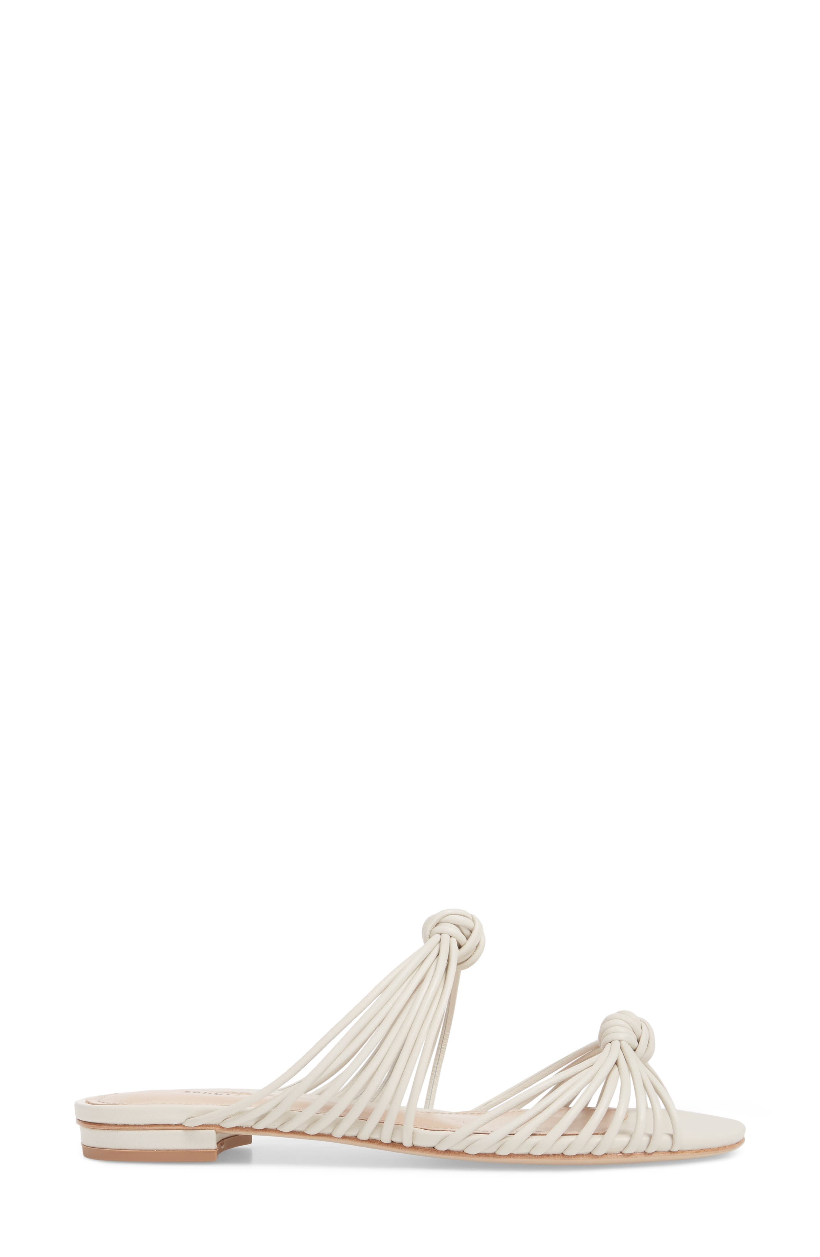 Nitiely Slide Sandal,                             Alternate thumbnail 3, color,                             Pearl Fabric